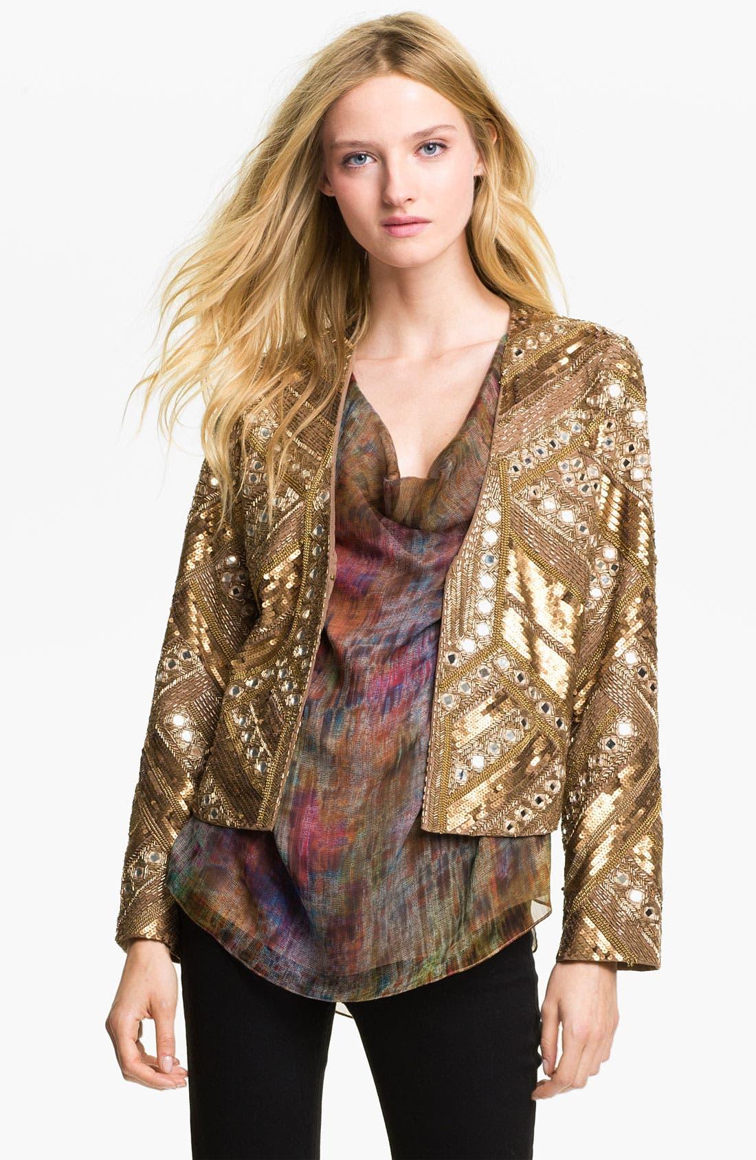 Main Image - Haute Hippie Embellished Silk Jacket