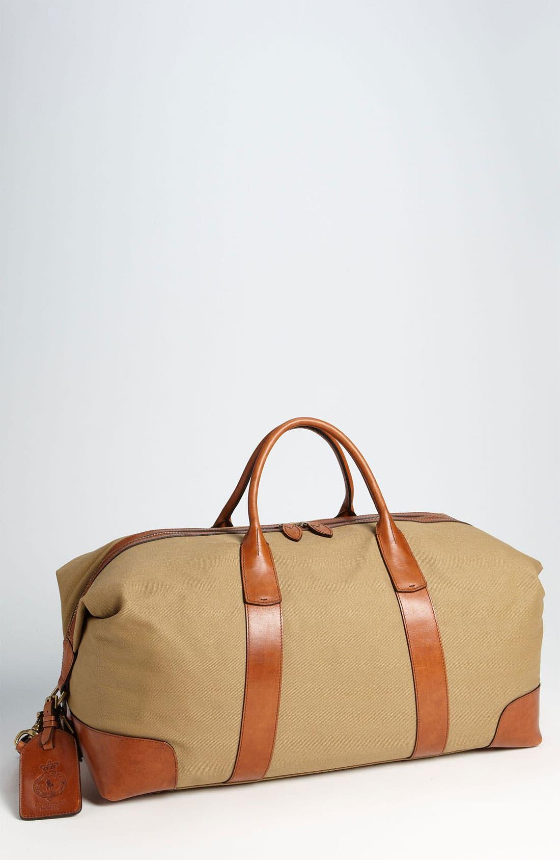 Alternate Image 1 Selected - Polo Ralph Lauren Canvas Duffel Bag