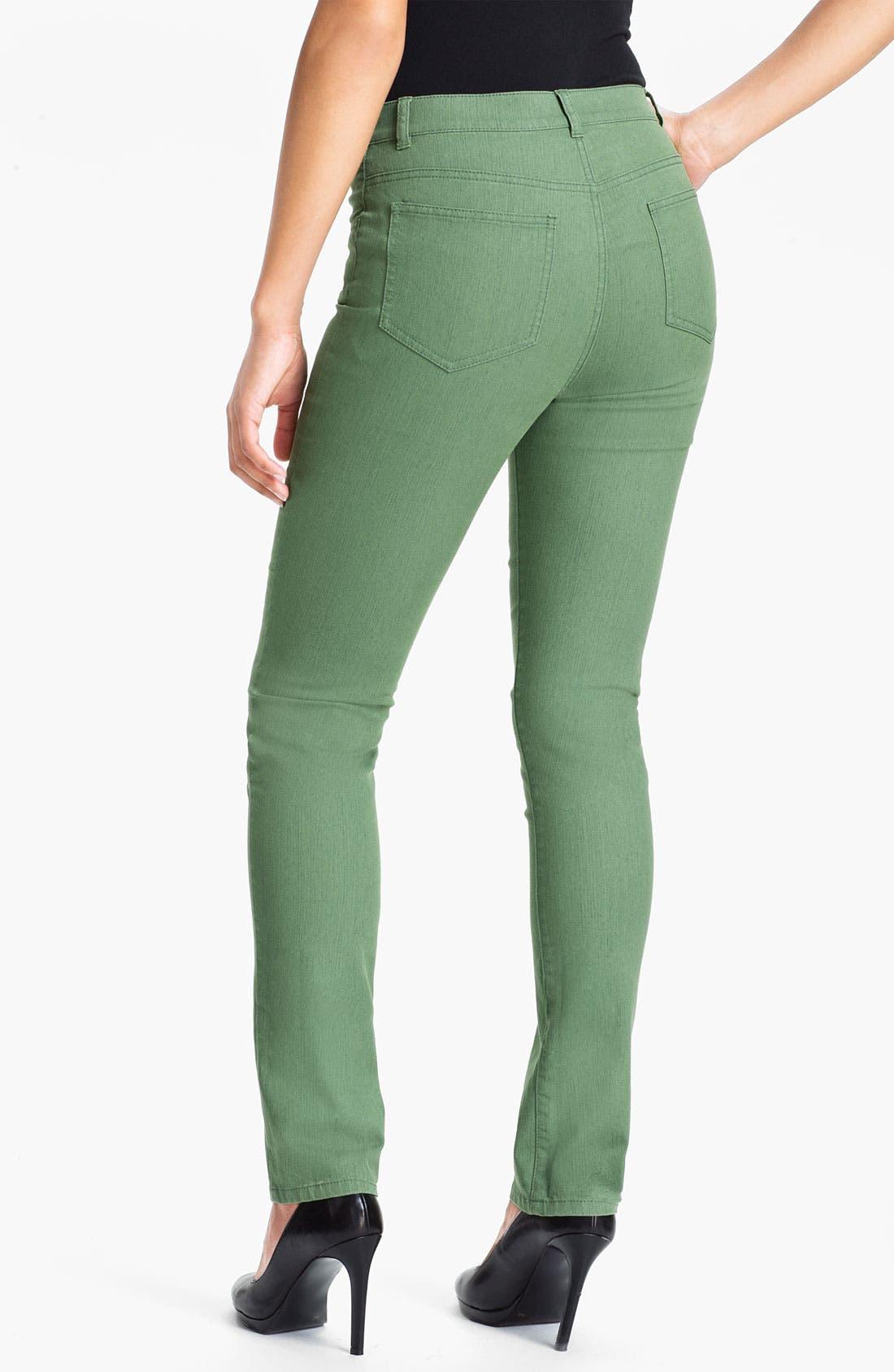 Alternate Image 2  - Lafayette 148 New York Curvy Fit Slim Leg Jeans