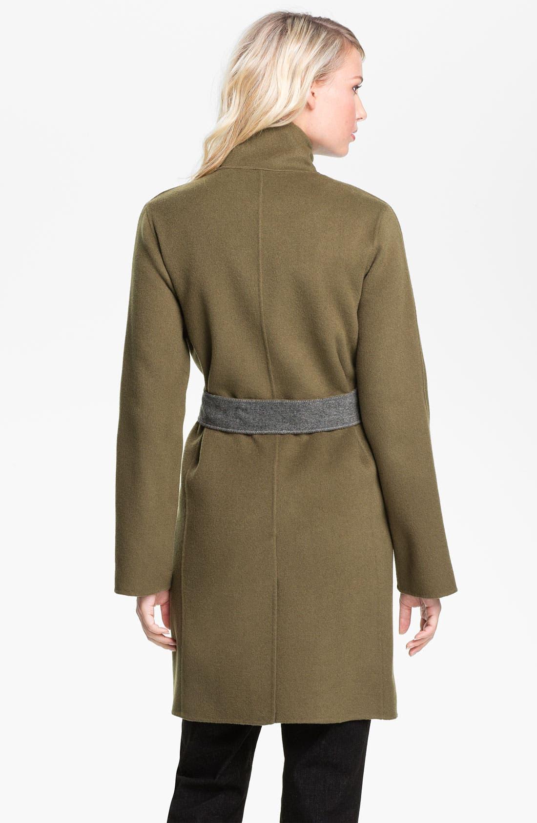 Alternate Image 2  - Eileen Fisher High Collar Belted Coat