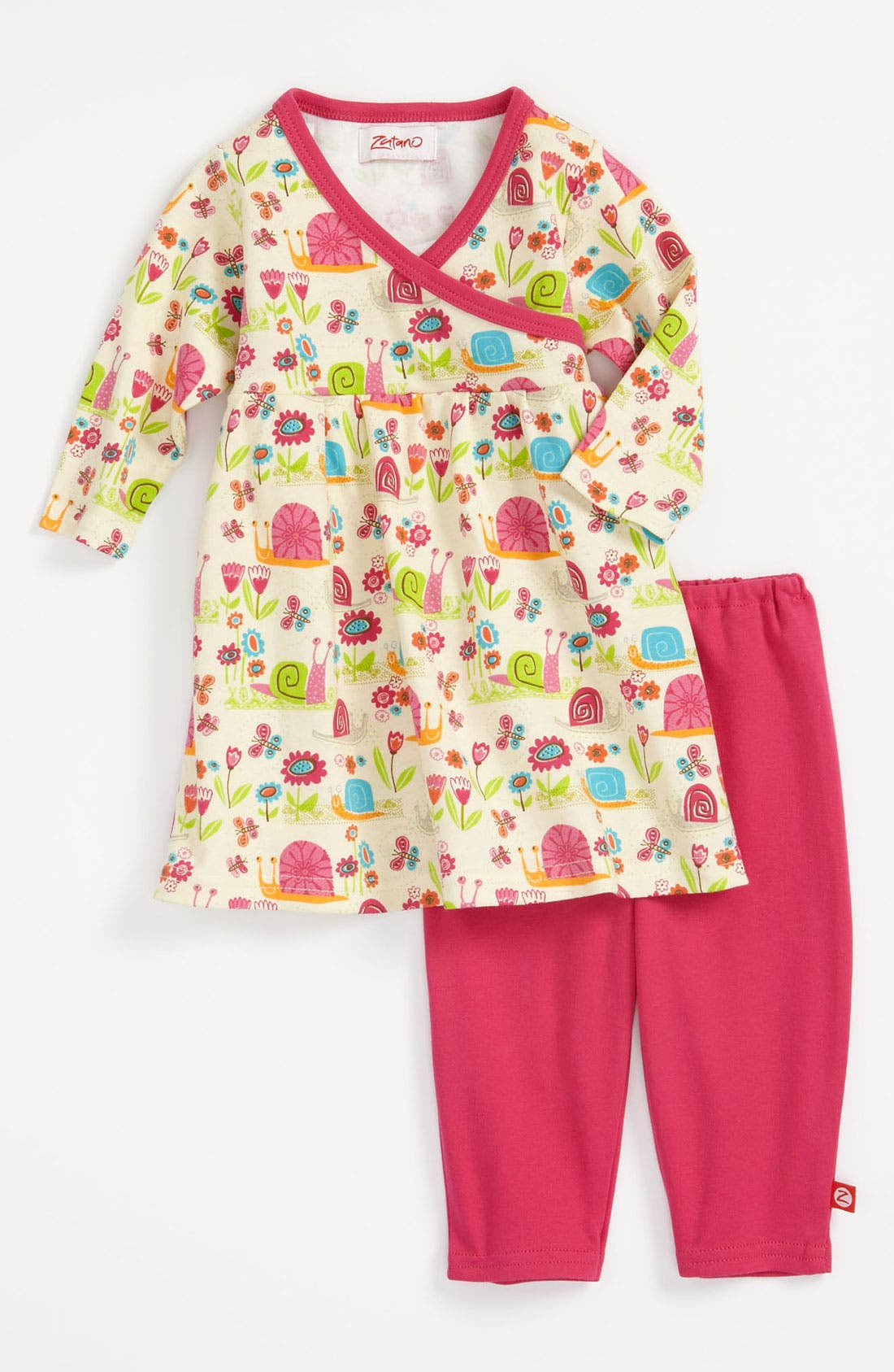 Alternate Image 1 Selected - Zutano 'Garden Snail' Dress & Leggings (Infant)