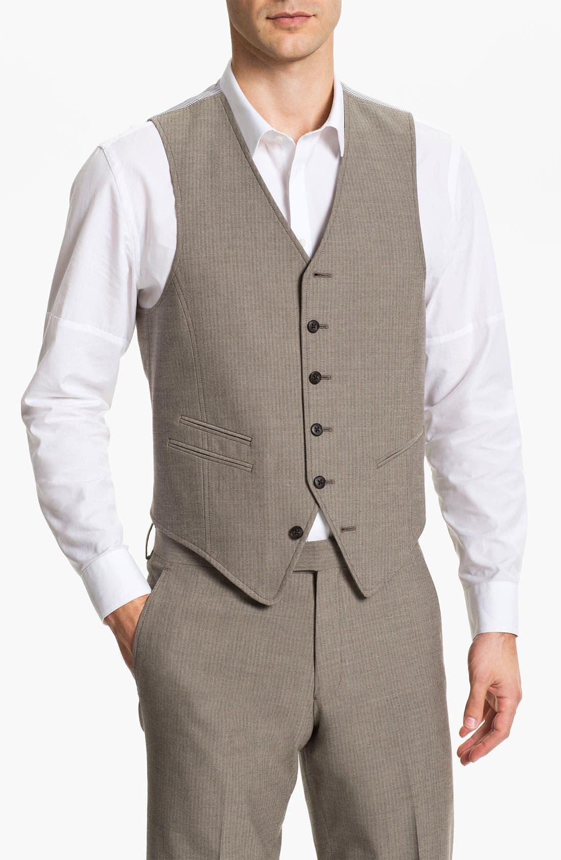 Alternate Image 1 Selected - John Varvatos Star USA Red Label Vest