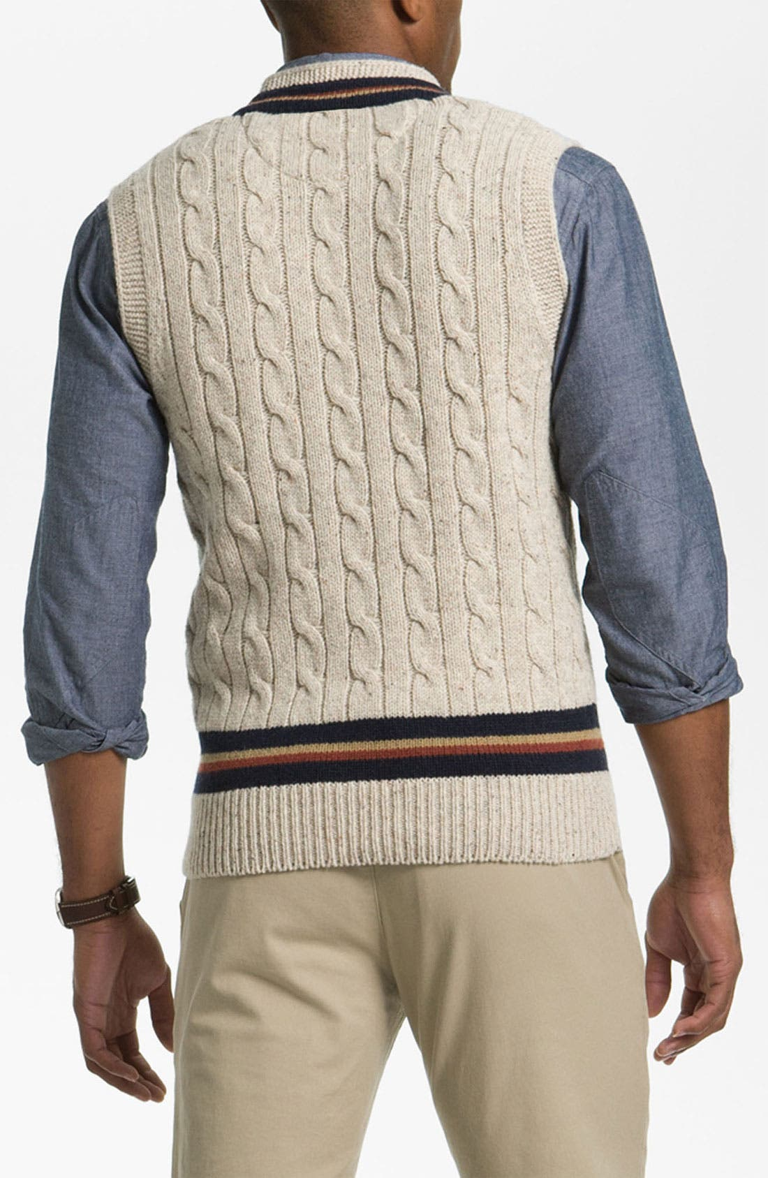 Alternate Image 2  - Fred Perry V-Neck Lambswool Sweater Vest