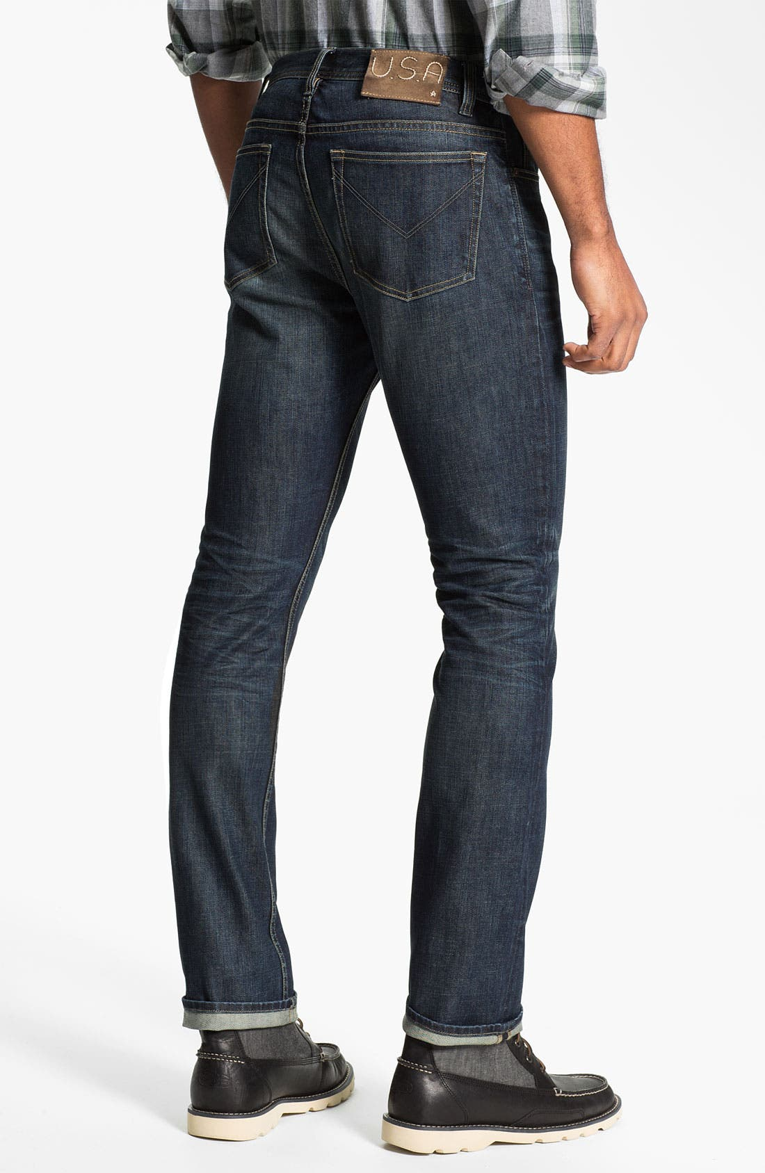 Alternate Image 2  - John Varvatos Star USA 'Bowery' Slim Straight Leg Jeans (Indigo)