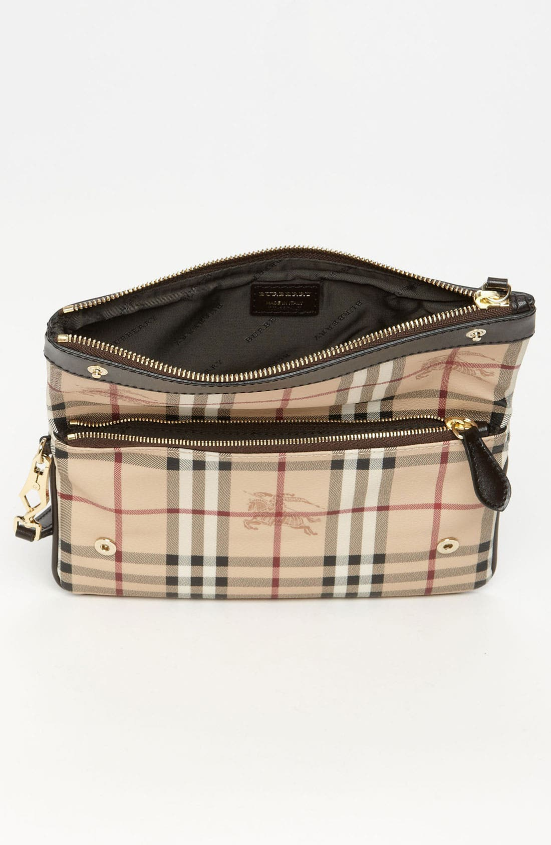 Alternate Image 3  - Burberry 'Haymarket Check' Wristlet