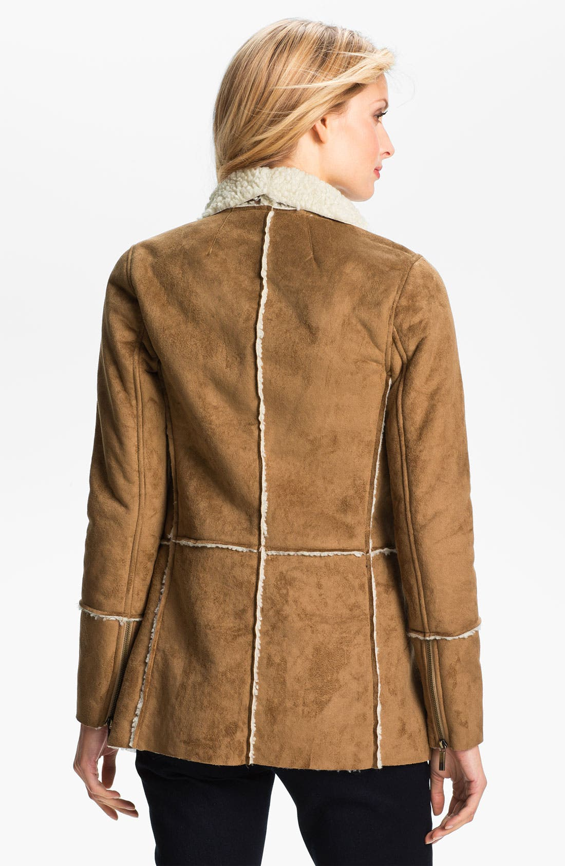 Alternate Image 2  - MICHAEL Michael Kors Faux Shearling Coat
