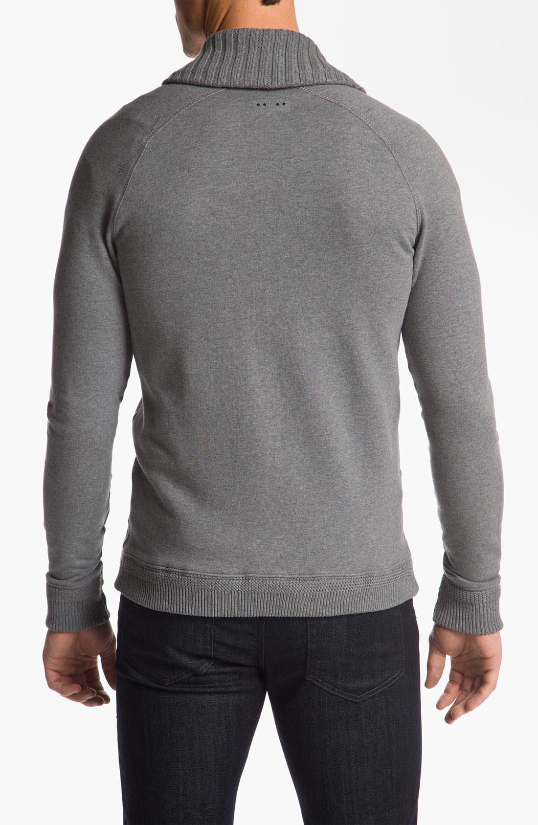 Alternate Image 2  - J.C. Rags Extra Trim Fit Shawl Collar Cardigan