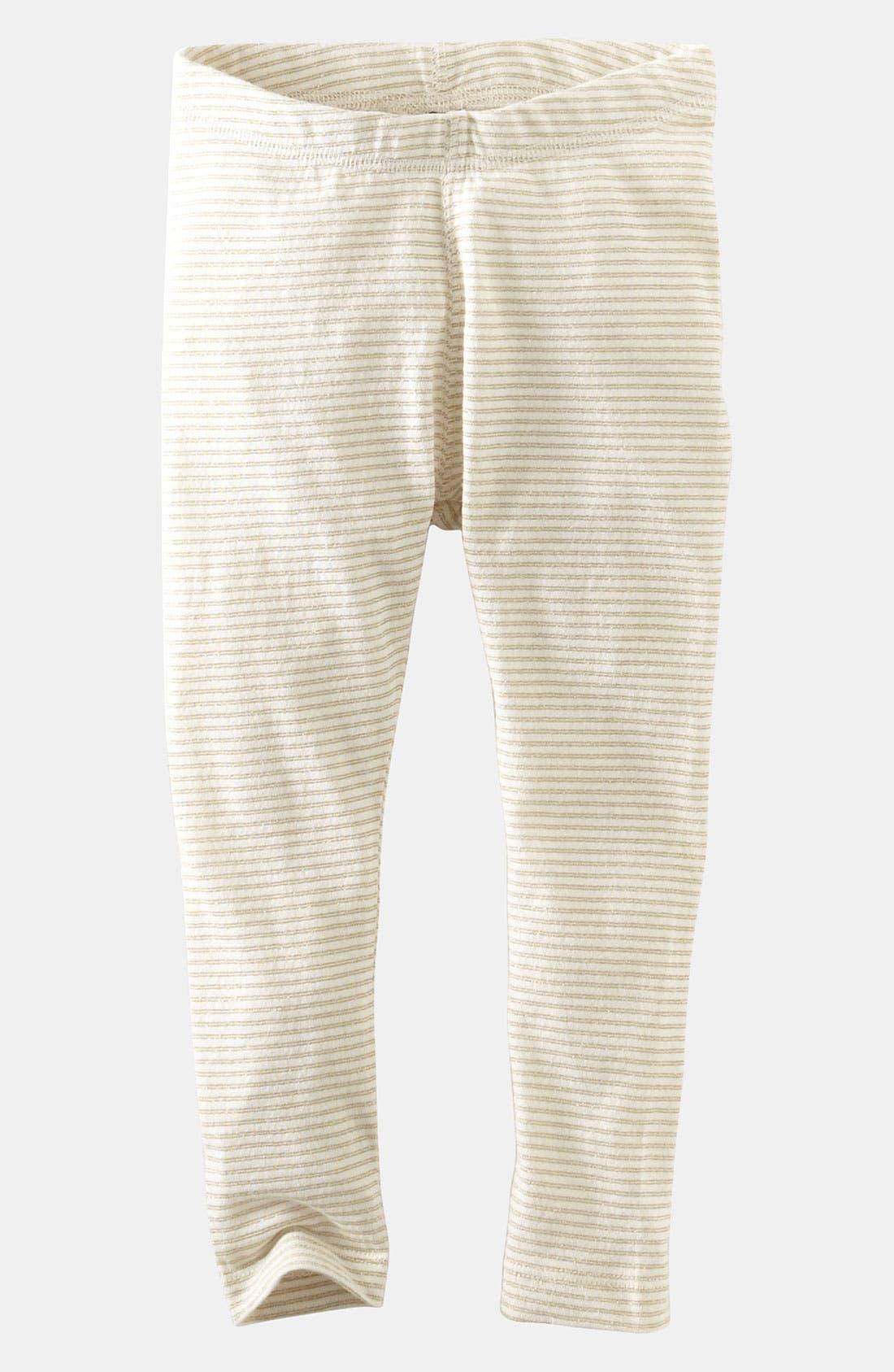 Alternate Image 1 Selected - Tea Collection Sparkle Stripe Leggings (Little Girls & Big Girls)