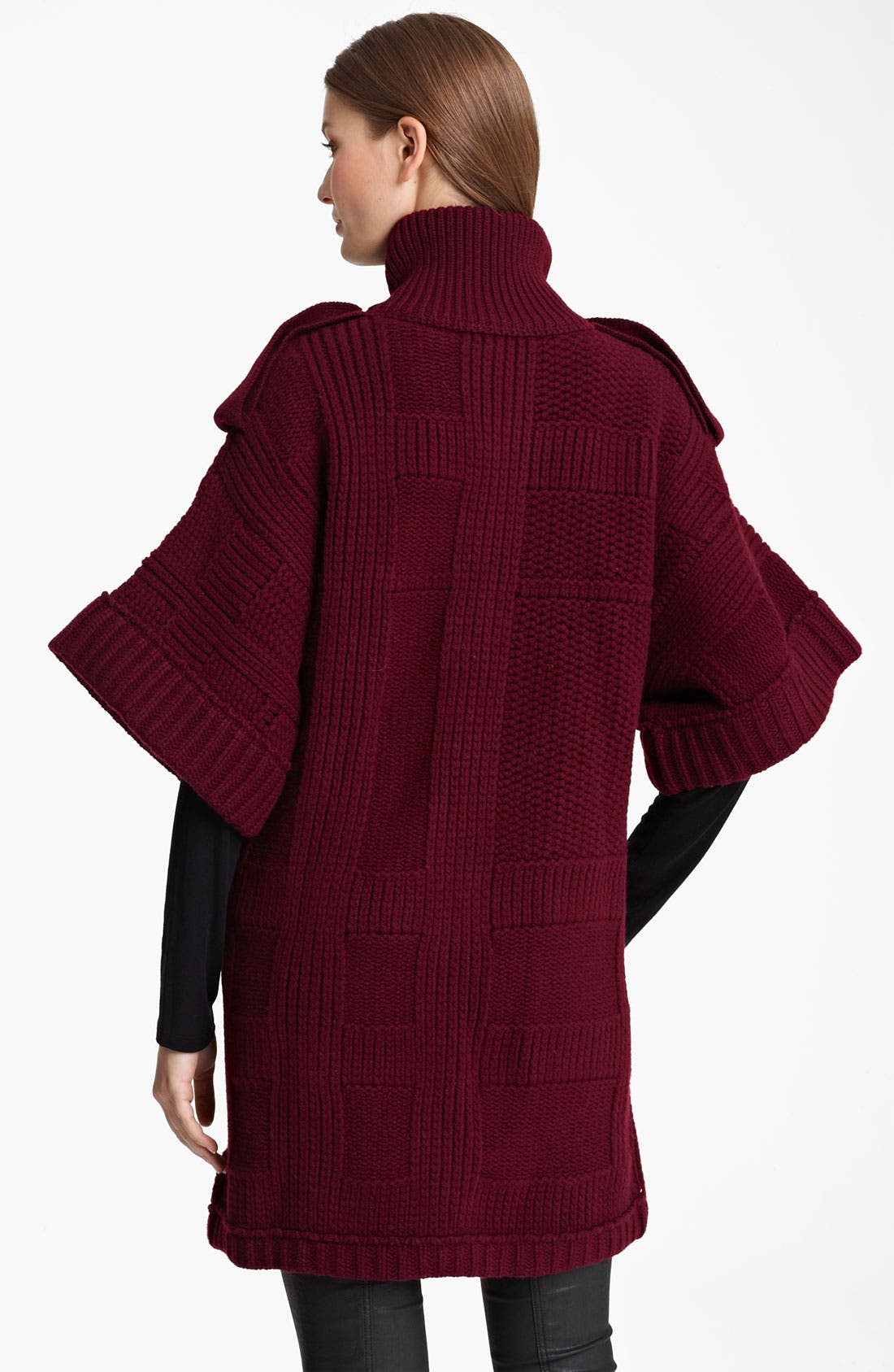 Alternate Image 2  - Burberry Brit Chunky Knit Cardigan (Online Exclusive)