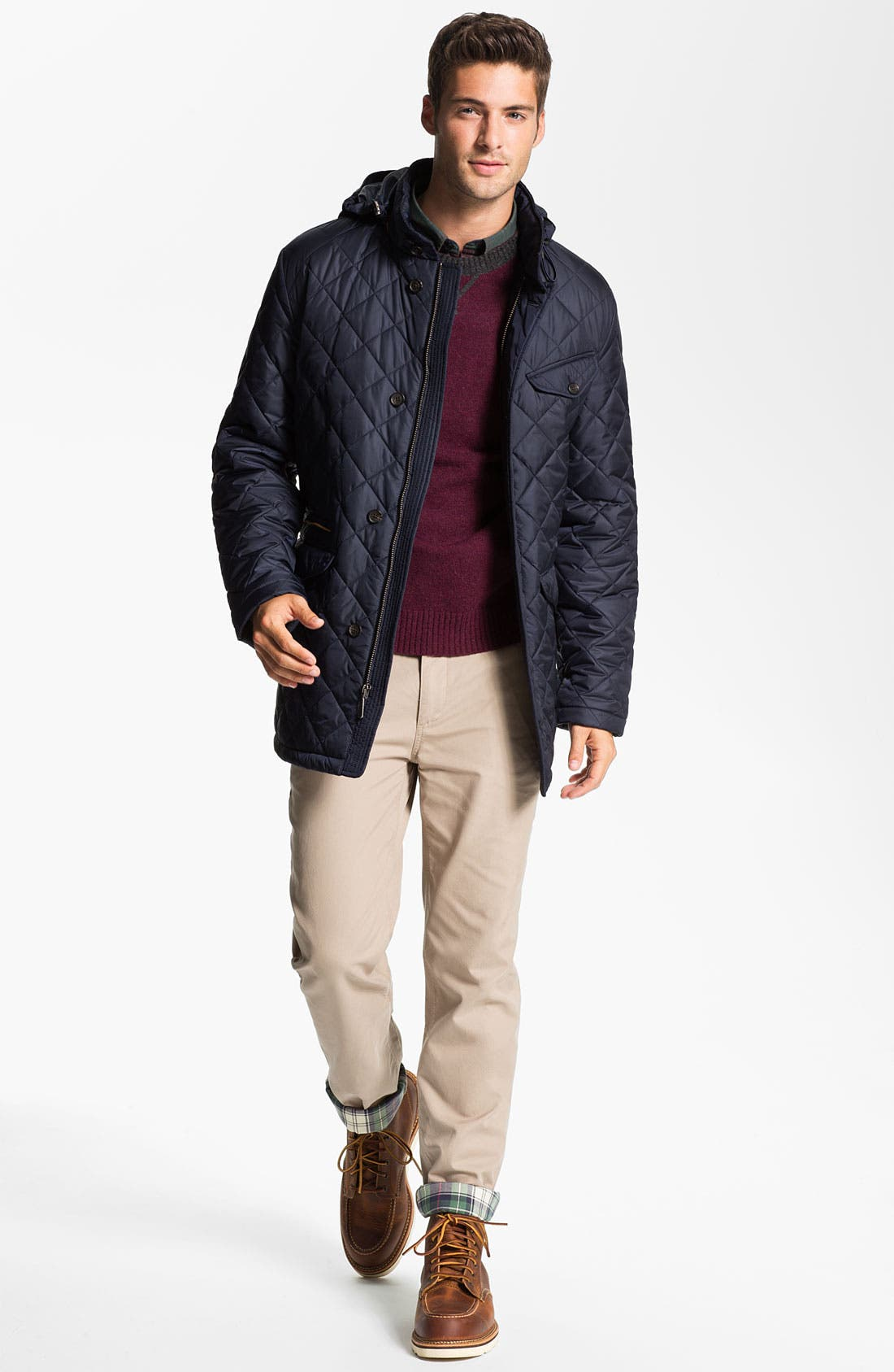 Alternate Image 4  - Brooks Brothers Flannel Lined Flat Front Chinos