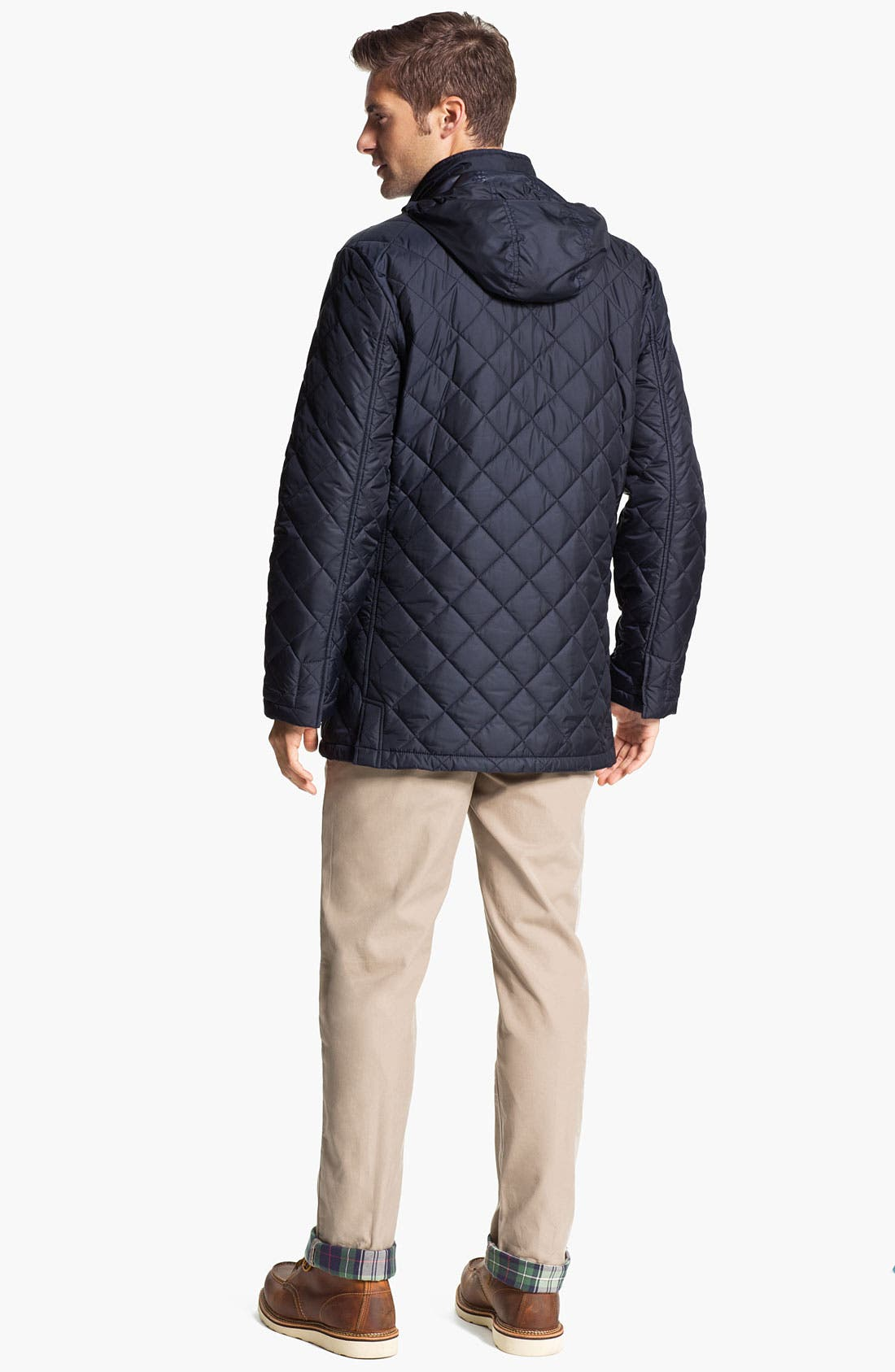 Alternate Image 5  - Brooks Brothers Flannel Lined Flat Front Chinos