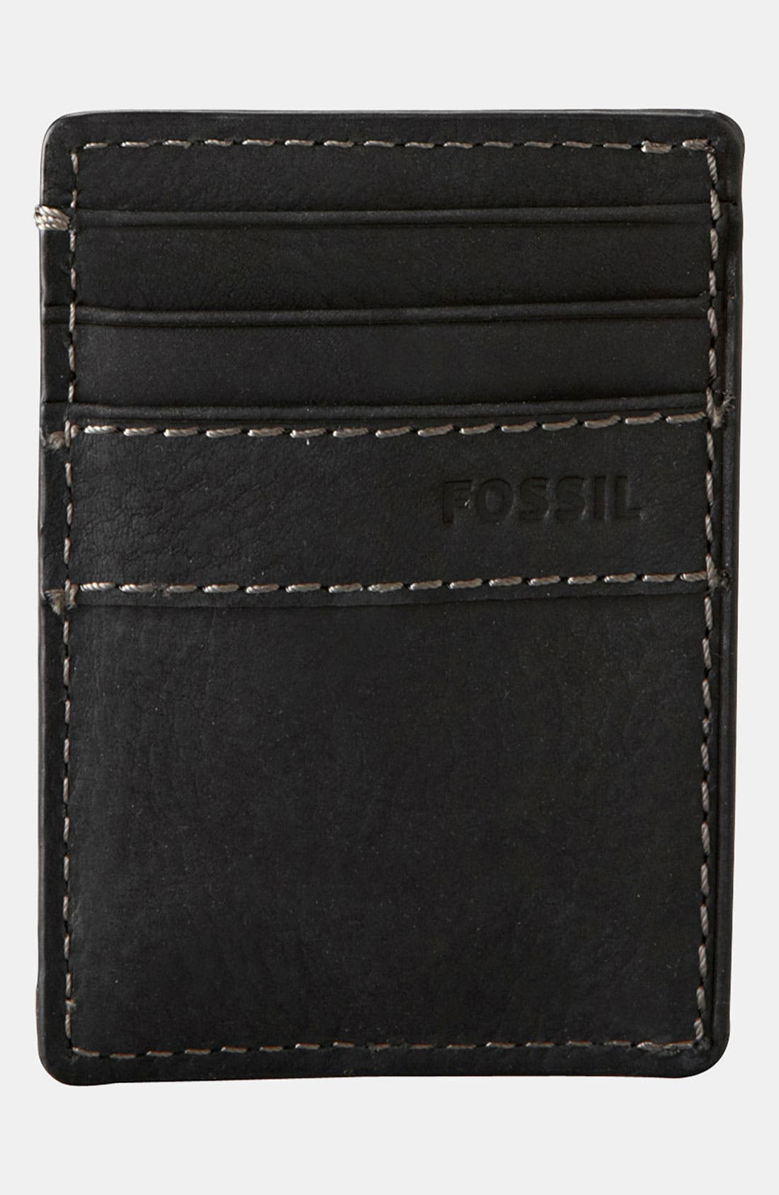 Main Image - Fossil Money Clip Card Case