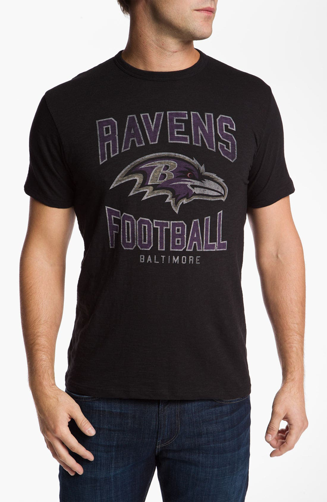 Main Image - 47 Brand 'Baltimore Ravens' Slubbed Crewneck T-Shirt