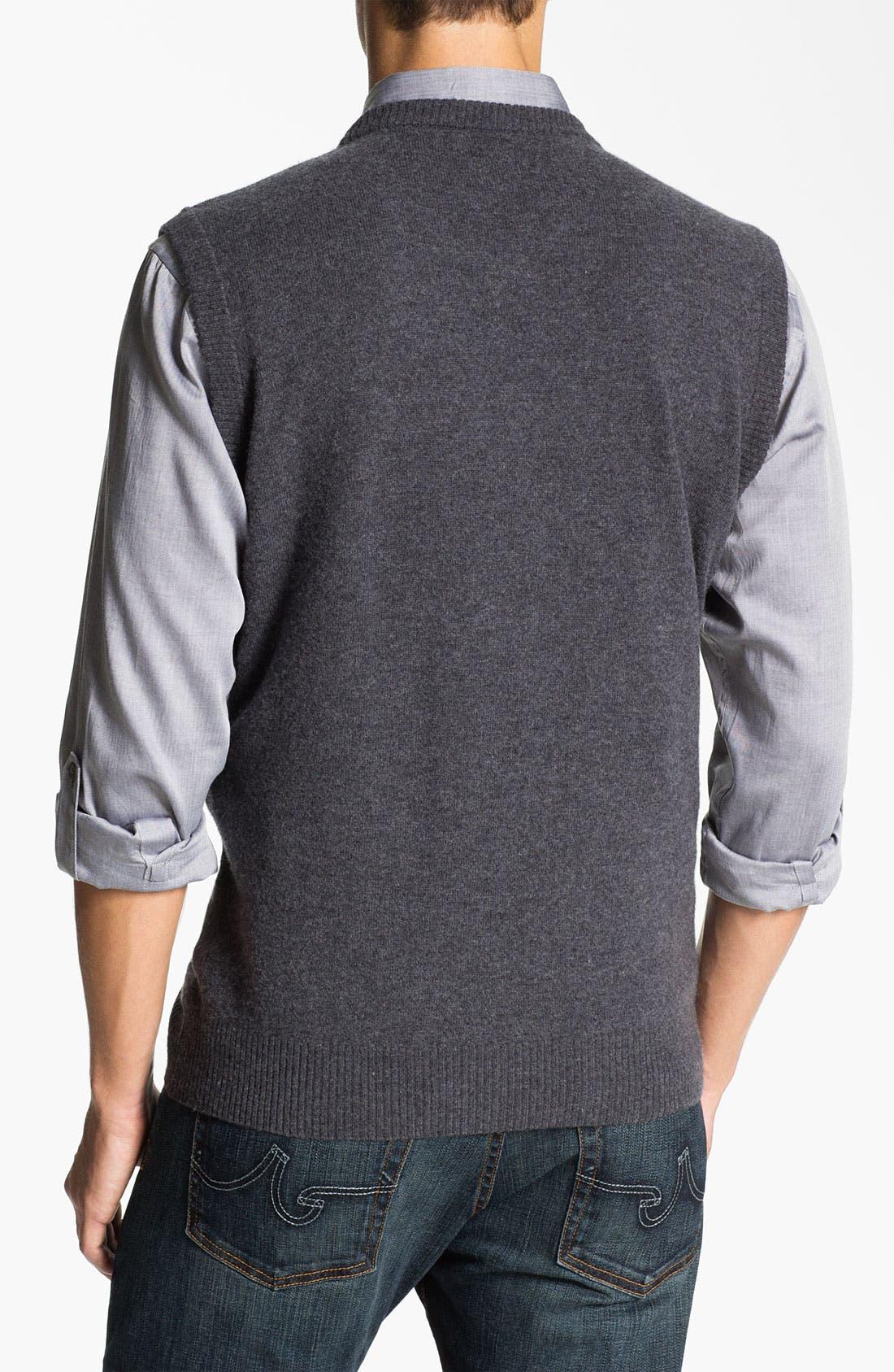 Alternate Image 2  - Franco Danti V-Neck Wool Sweater Vest
