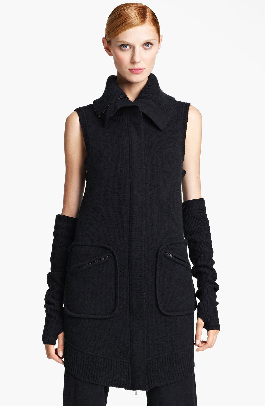 Main Image - Donna Karan Collection Boiled Cashmere Vest