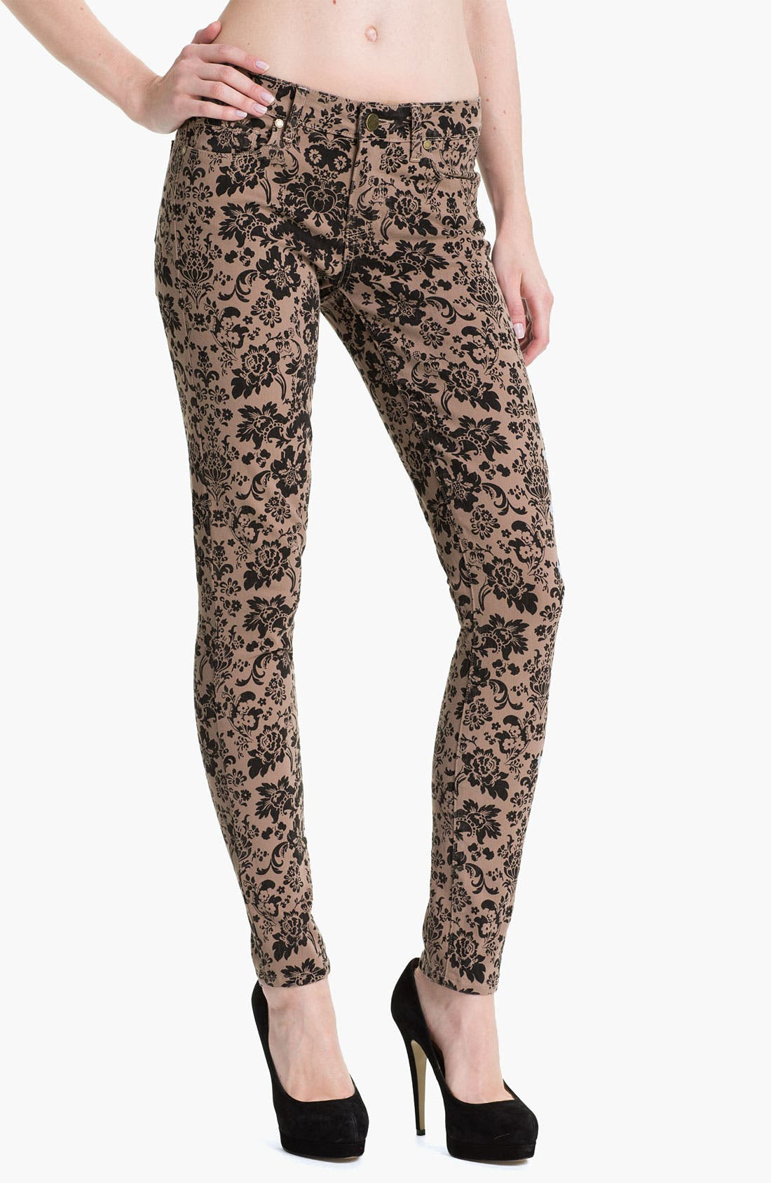 Alternate Image 1 Selected - Paige Denim 'Verdugo' Print Skinny Jeans (Chai/Black)