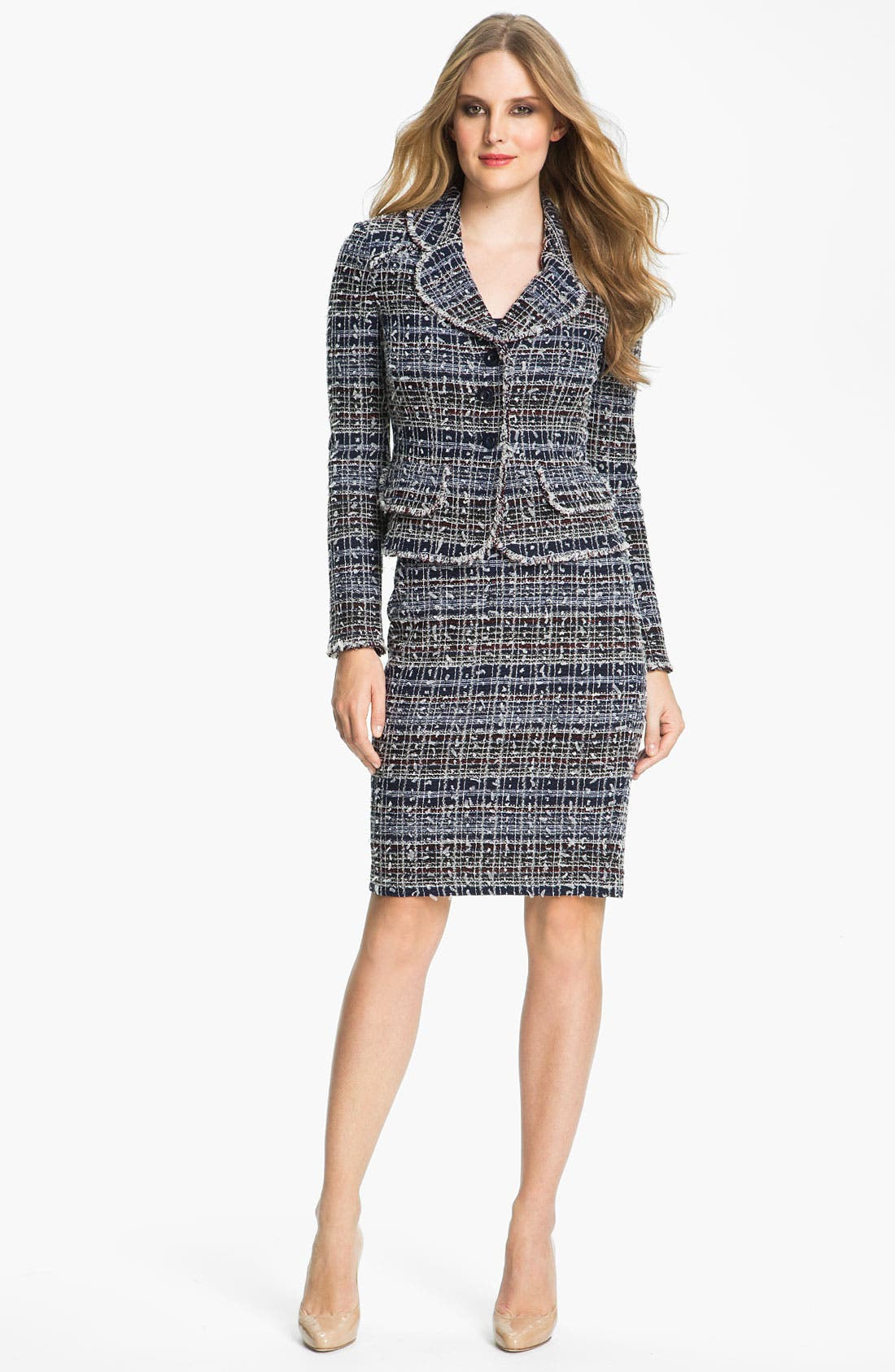 Main Image - St. John Collection 'Sutton' Tweed Knit Jacket