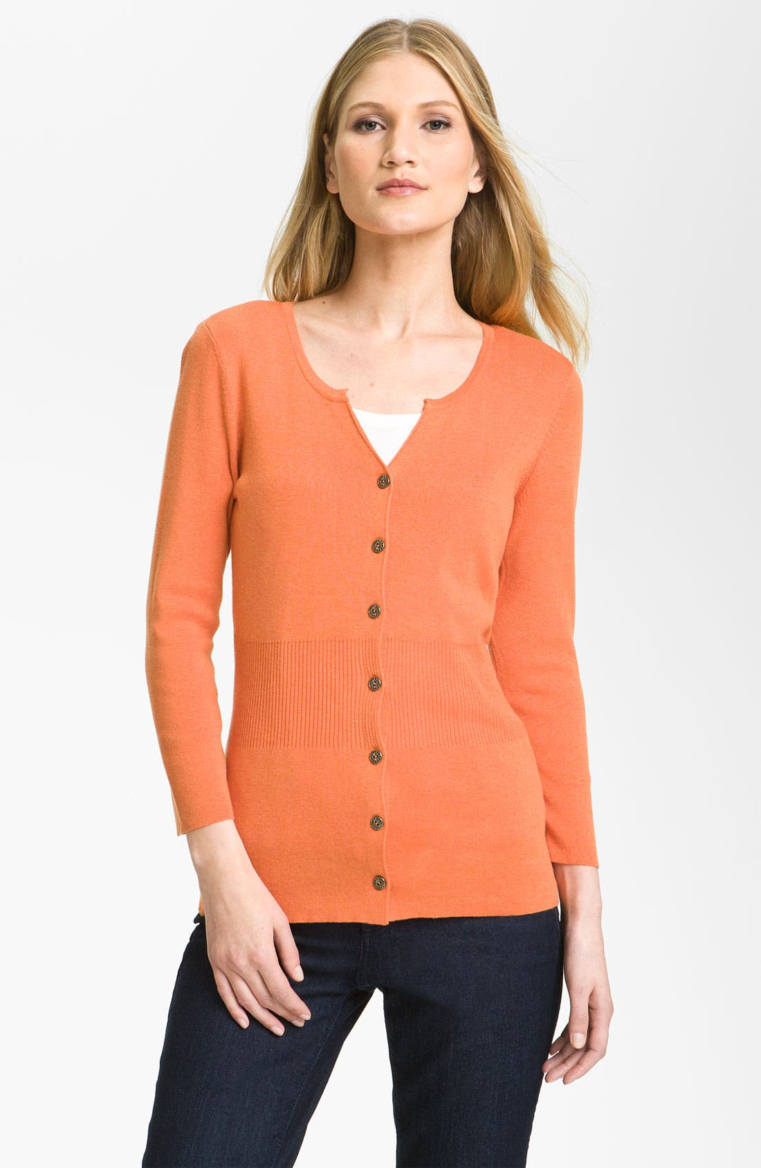 Alternate Image 1 Selected - Nic + Zoe 'Back of the Chair' Cardigan (Petite)