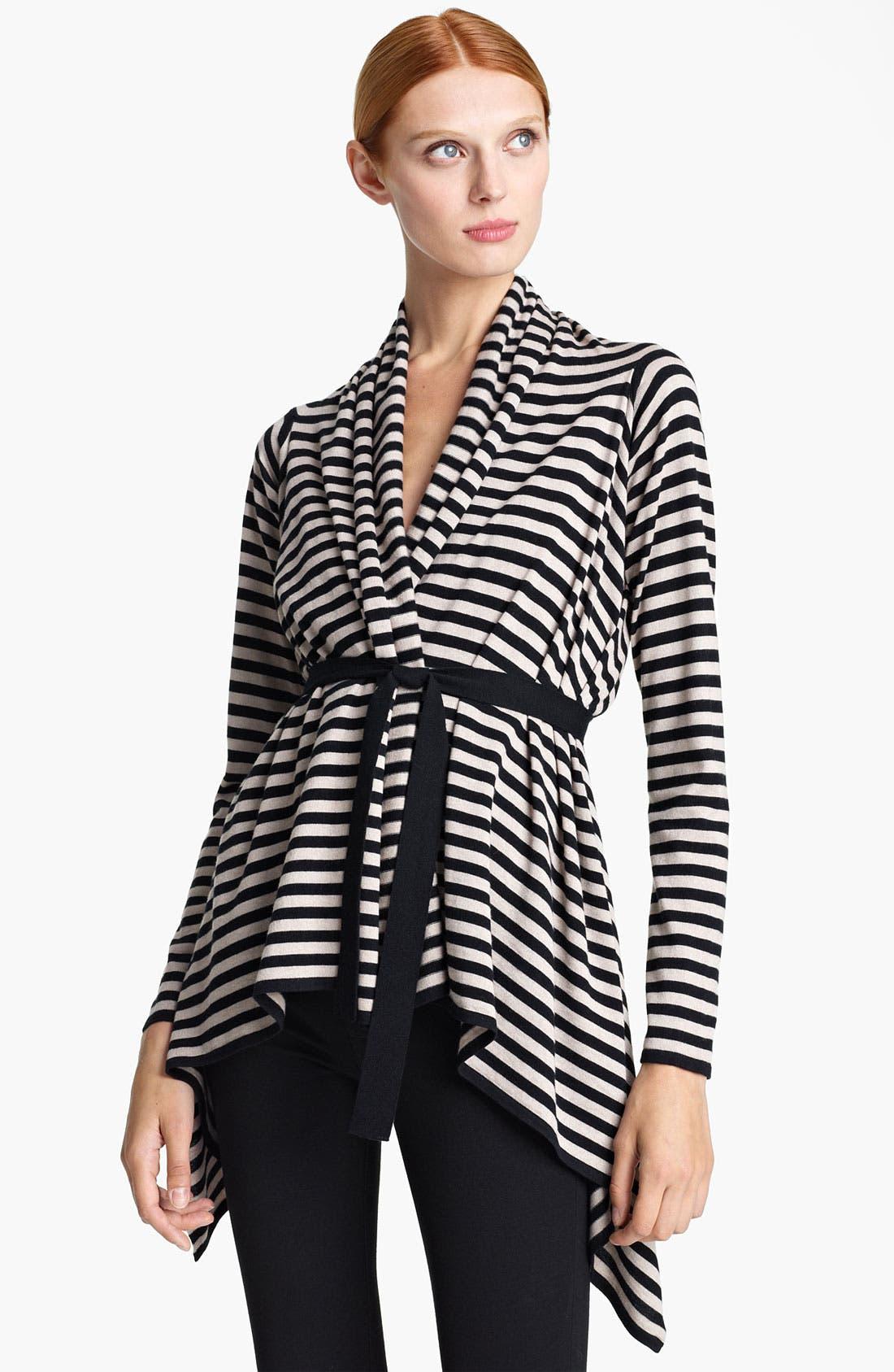 Main Image - Max Mara 'Pineta' Stripe Silk & Cotton Cardigan