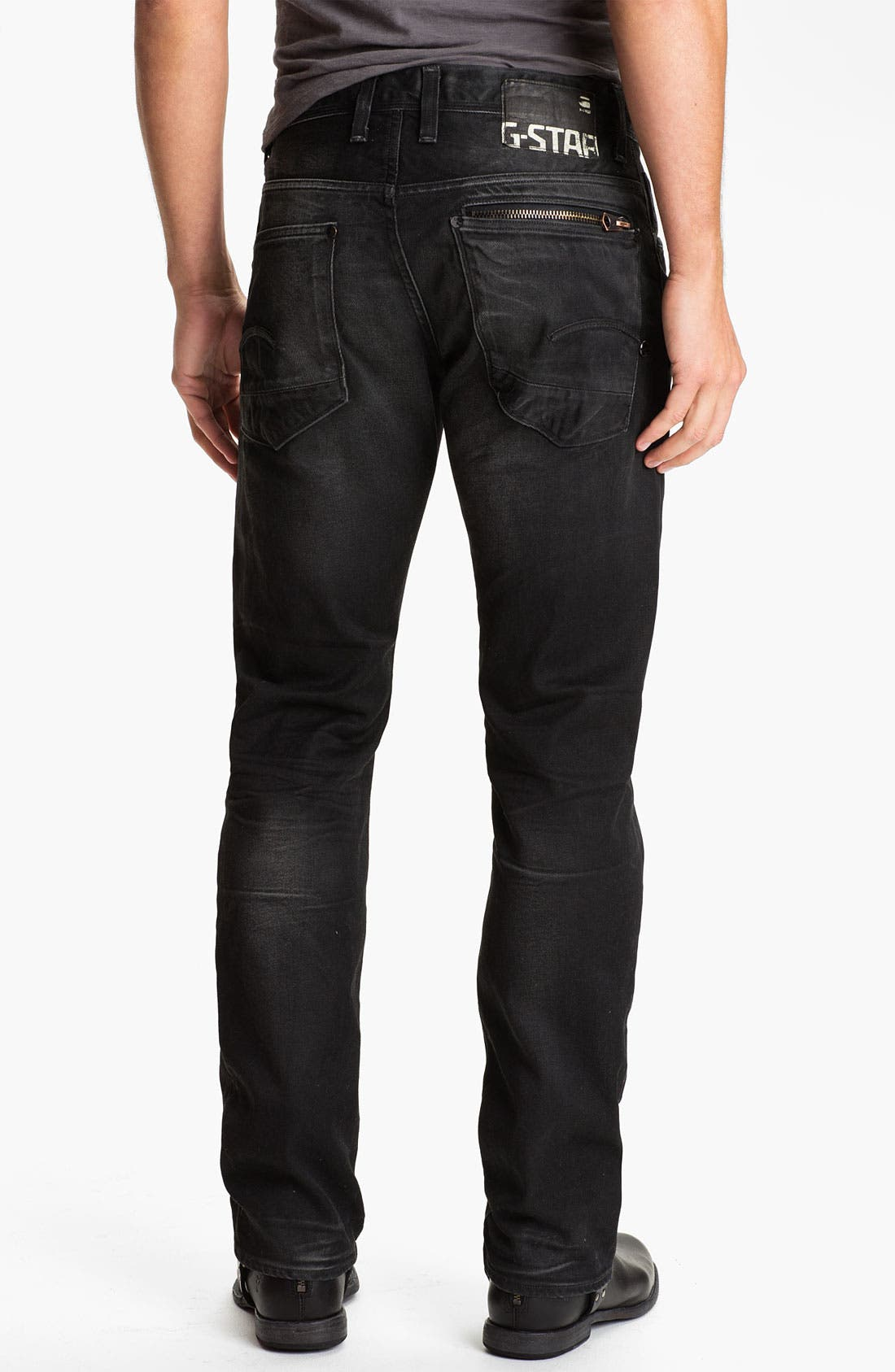 Alternate Image 1 Selected - G-Star Raw 'Attacc' Straight Leg Jeans (Dark Aged)