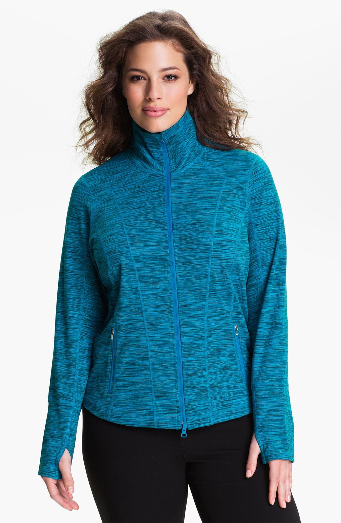 Alternate Image 2  - Zella 'Sophia' Space Dye Jacket (Plus)