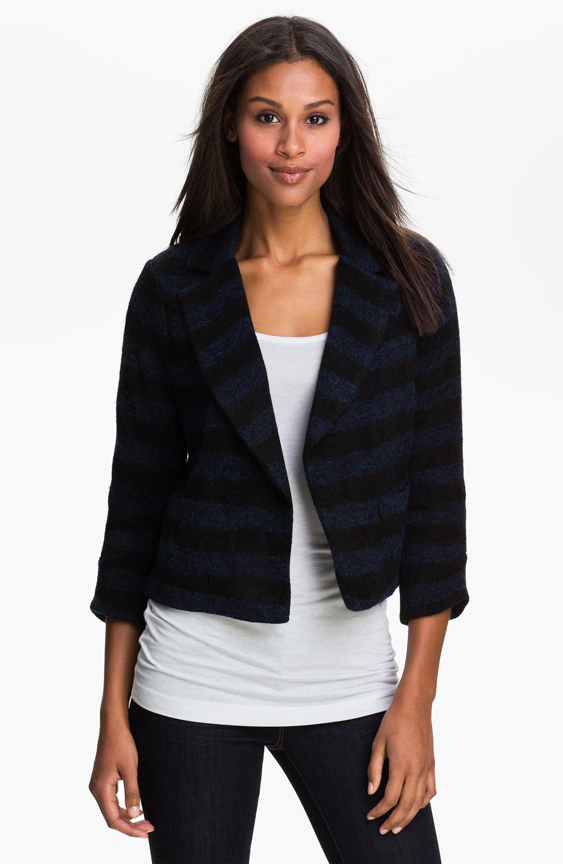 Main Image - Max & Mia Stripe Notch Collar Jacket