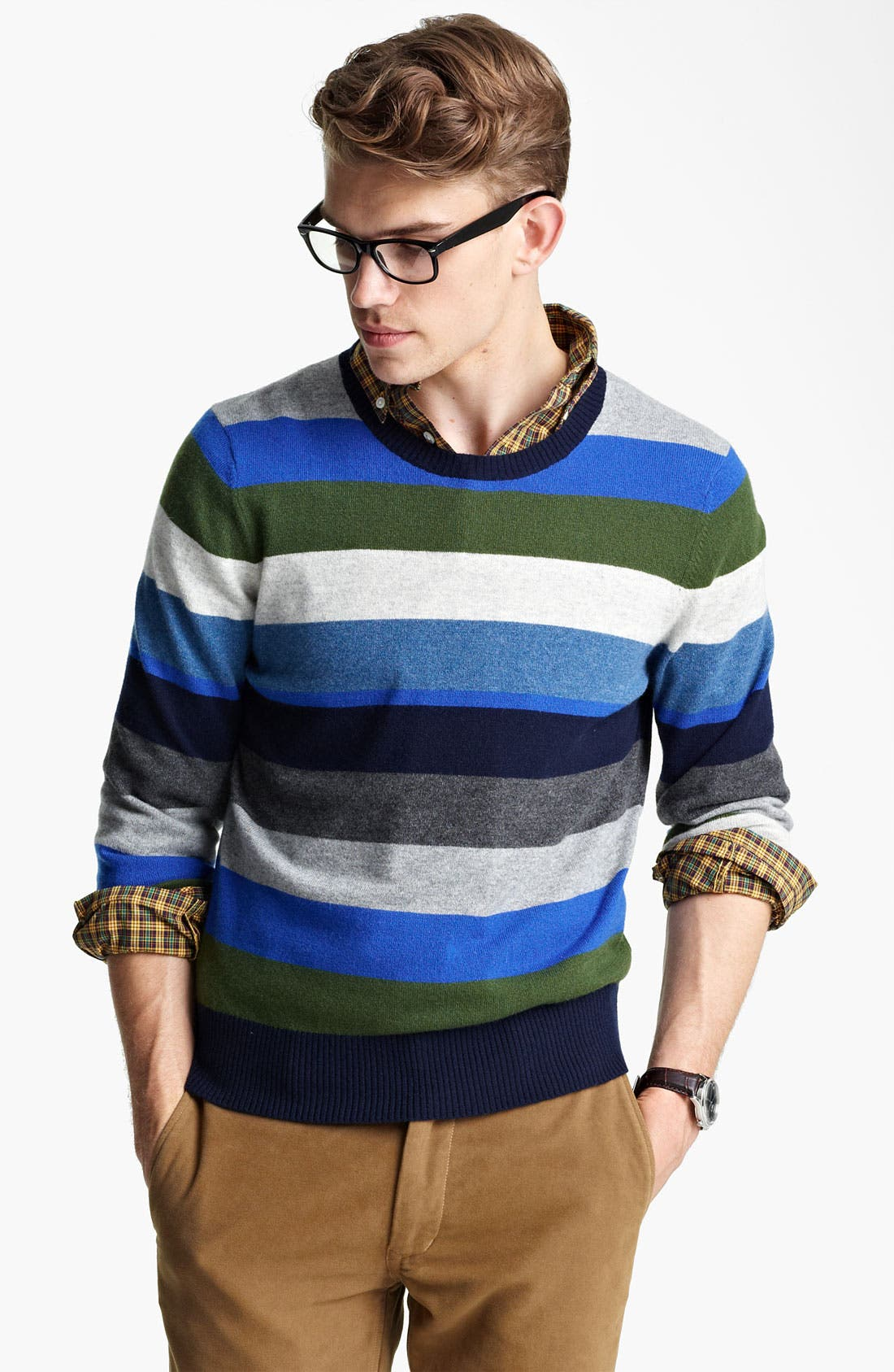 Alternate Image 1 Selected - Jack Spade 'Page' Stripe Wool & Cashmere Sweater