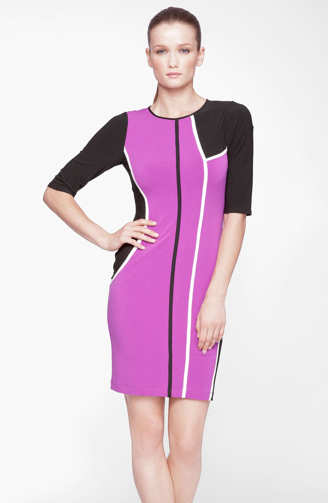 Main Image - Marc New York by Andrew Marc Colorblock Jersey Sheath Dress