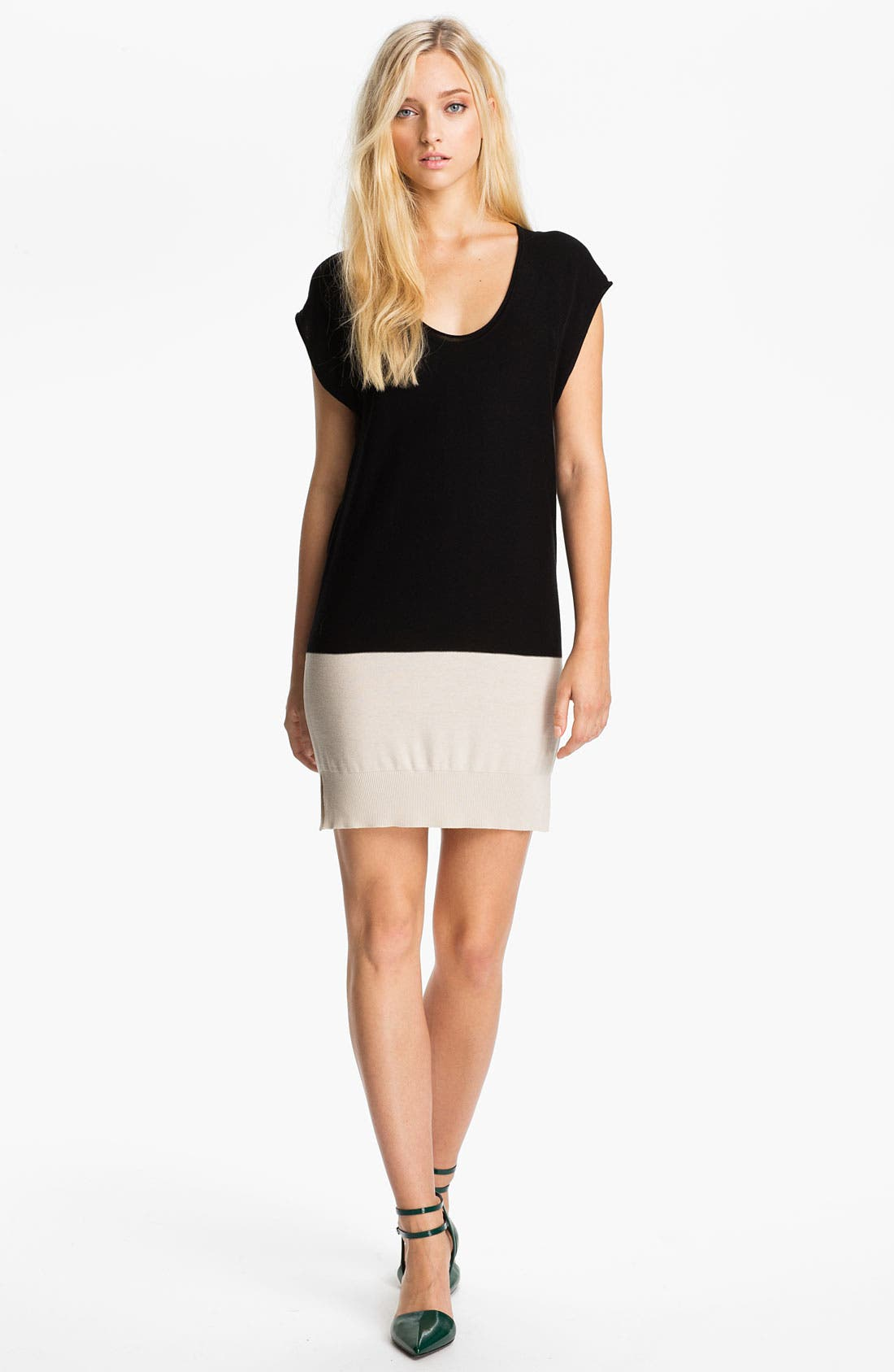 Alternate Image 1 Selected - T by Alexander Wang Colorblock Tunic Dress