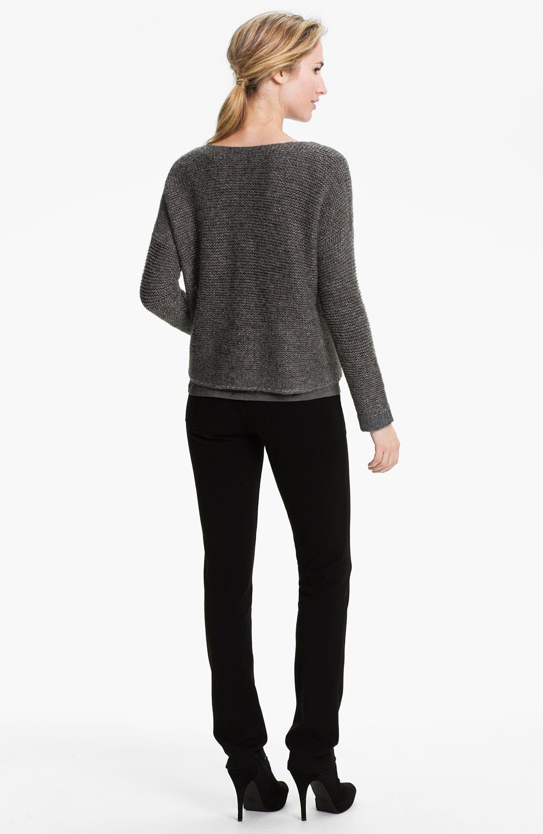 Alternate Image 5  - Eileen Fisher 'Alpaca Sparkle' V-Neck Sweater