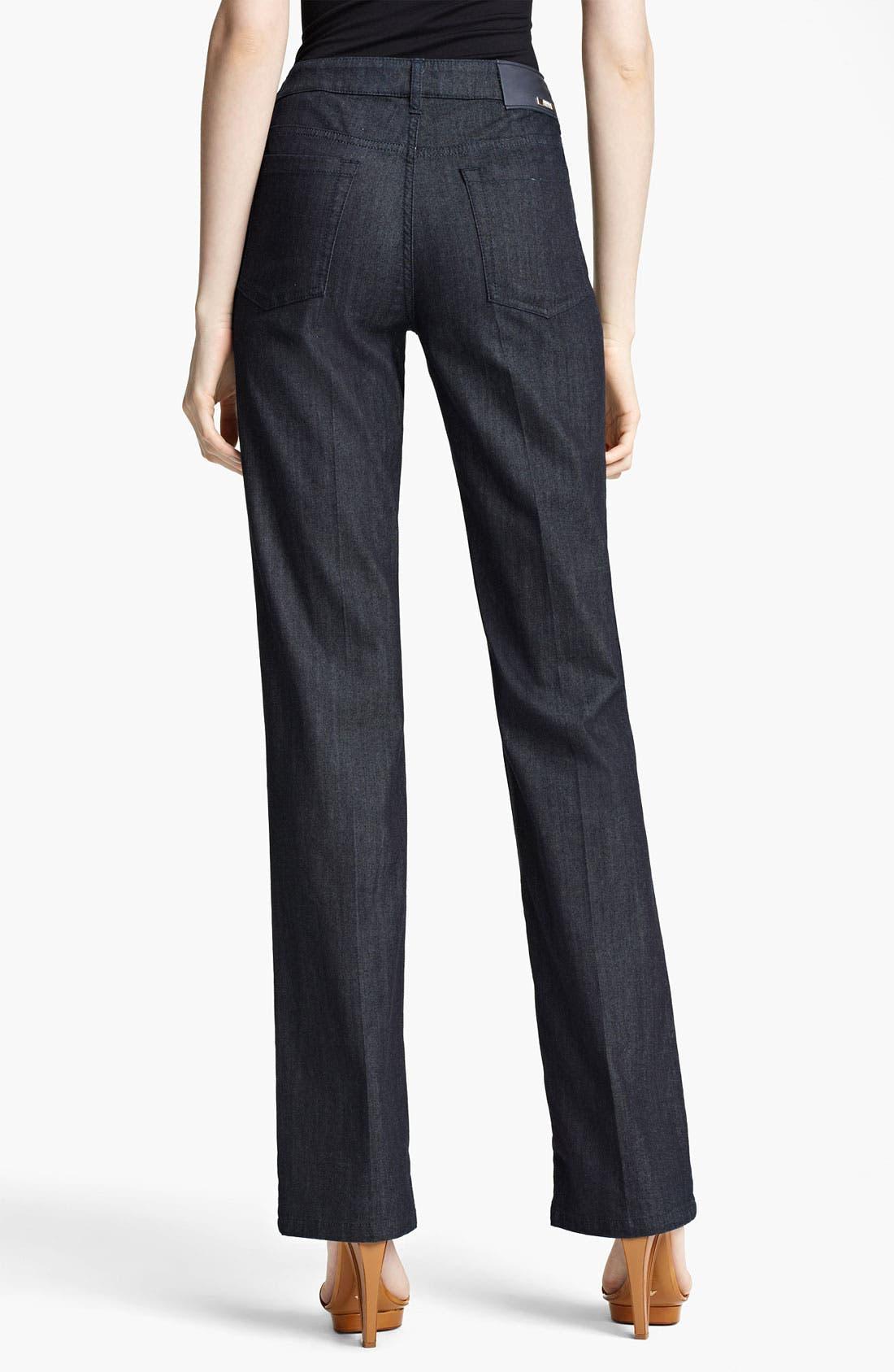 Alternate Image 2  - Armani Collezioni Straight Leg Stretch Jeans