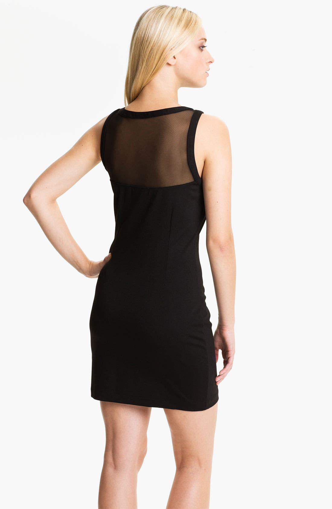 Alternate Image 2  - BB Dakota 'Sorina' Illusion Yoke Ponte Sheath Dress