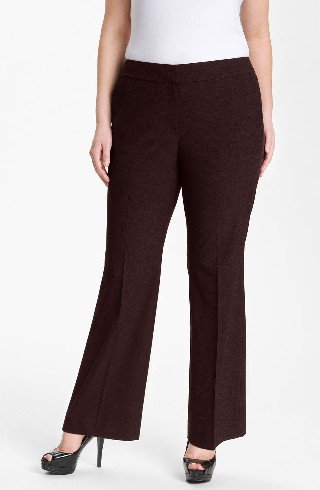 Alternate Image 1 Selected - Sejour 'Ela' Curvy Fit Pants (Plus Size & Petite Plus)