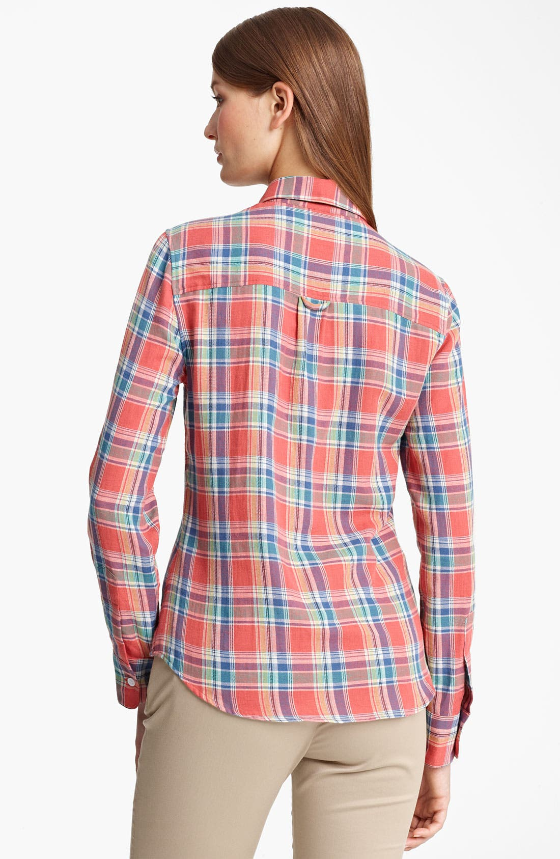 Alternate Image 2  - Band of Outsiders Madras Plaid Shirt