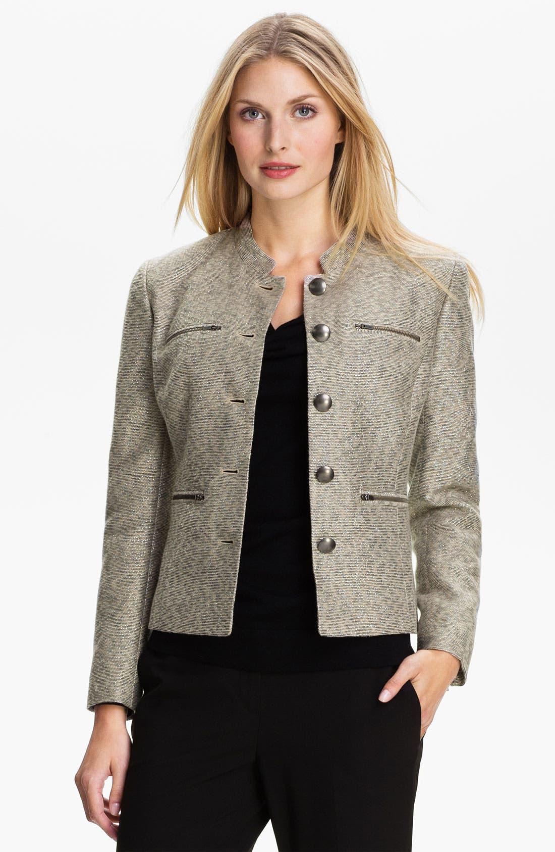 Alternate Image 1 Selected - Classiques Entier® Metallic Weave Jacket