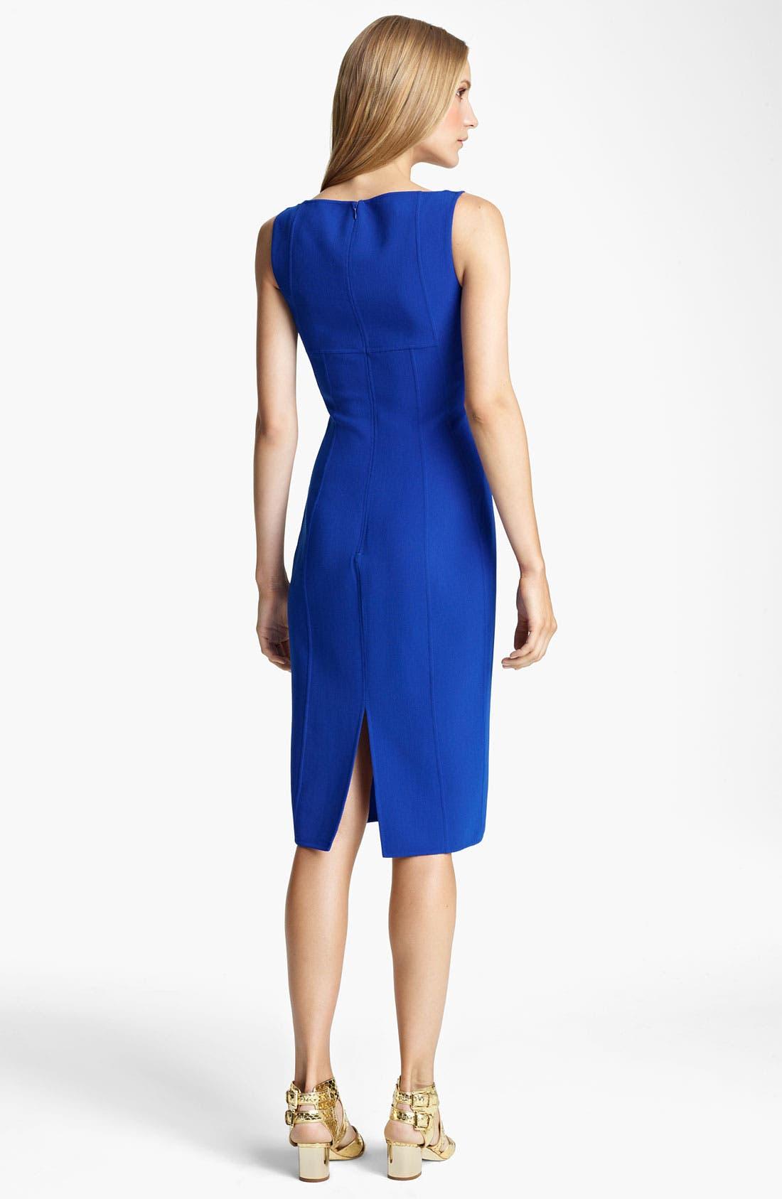 Alternate Image 2  - Michael Kors Double Face Wool Crepe Dress
