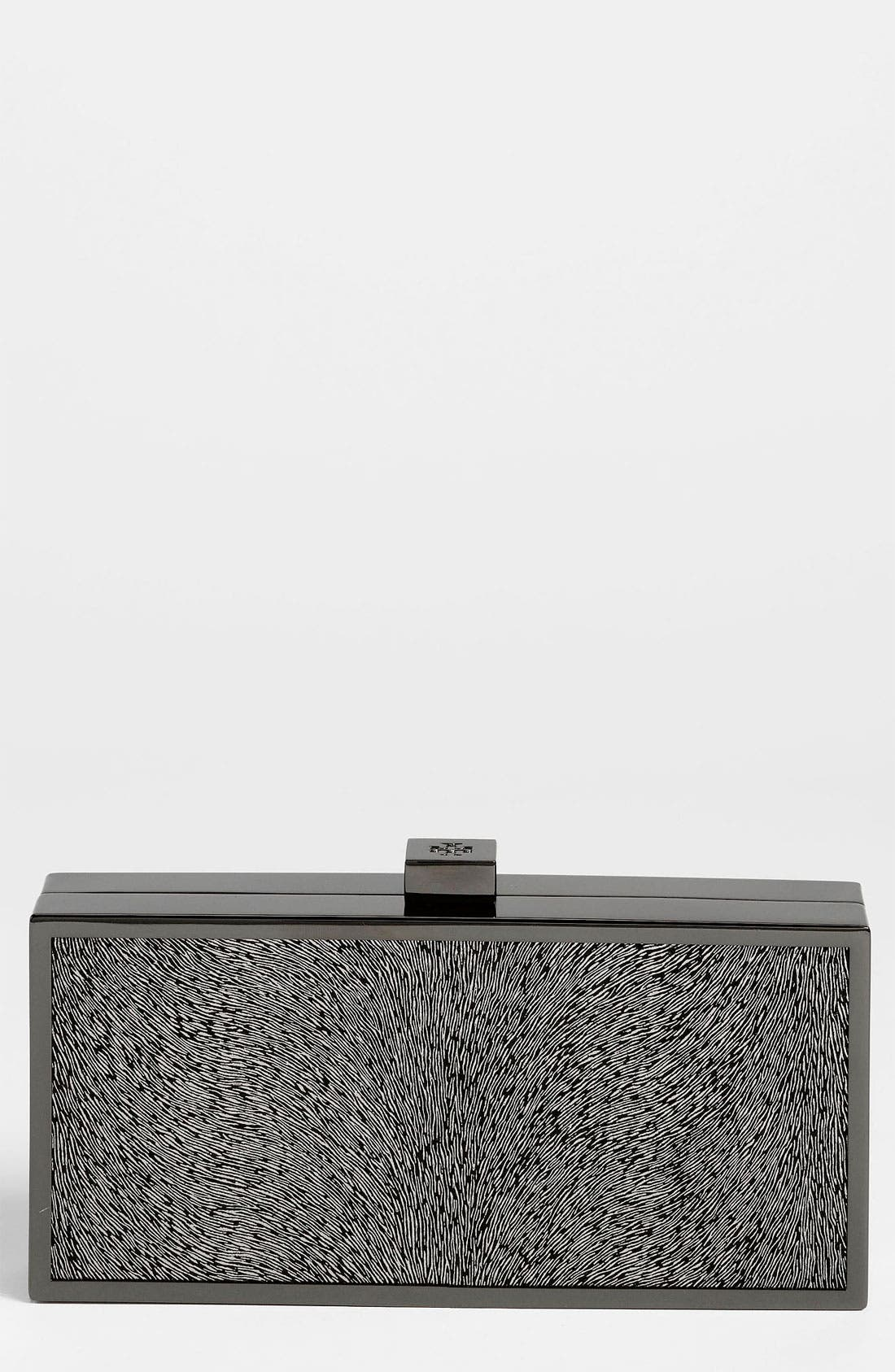 Main Image - Tory Burch Sparkle Suede Clutch