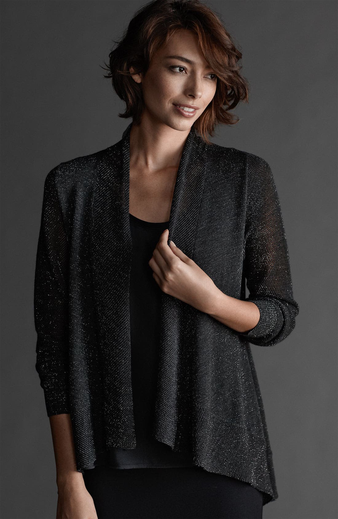 Alternate Image 2  - Eileen Fisher Shimmer Cardigan (Nordstrom Exclusive)