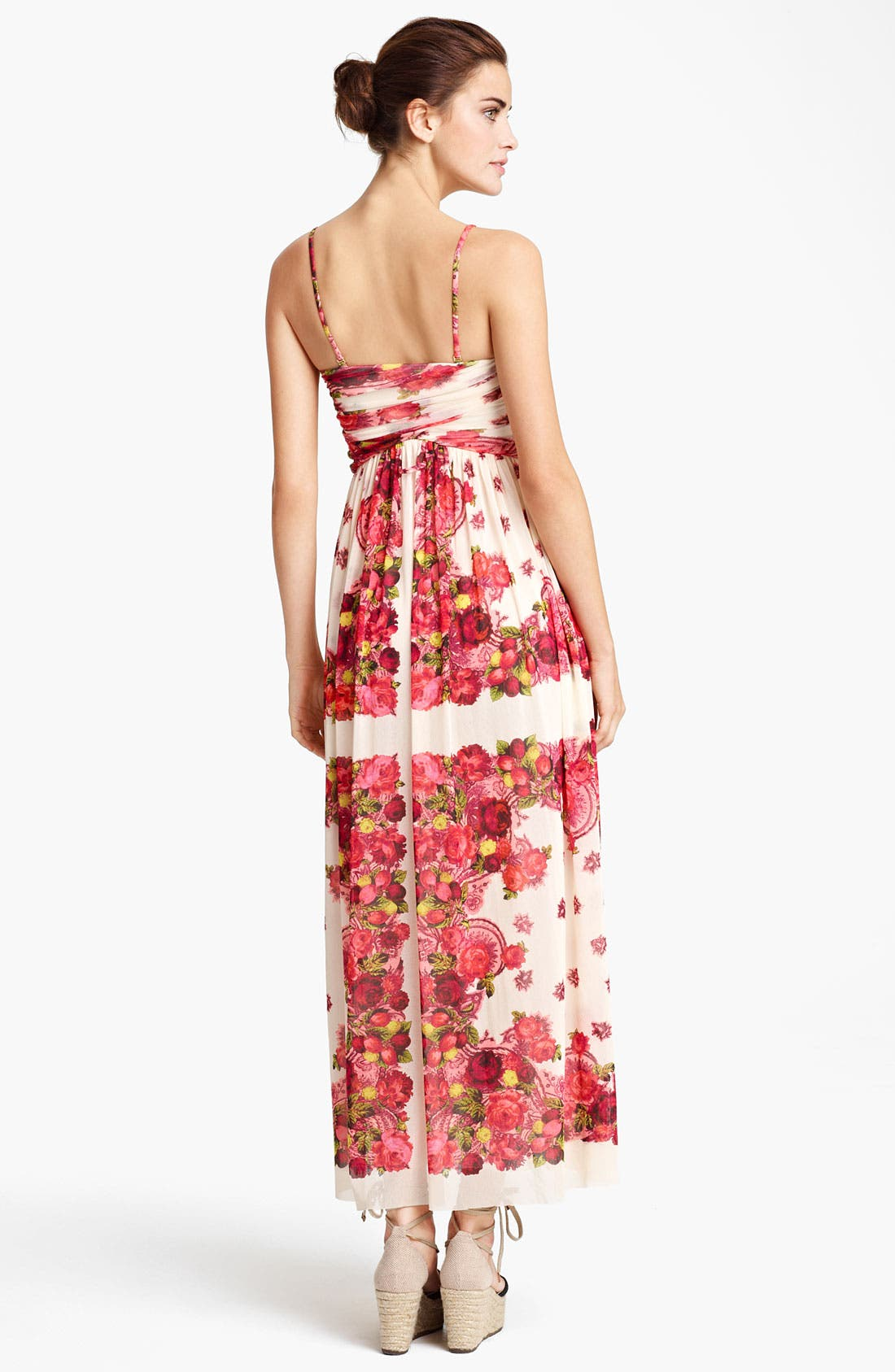 Alternate Image 2  - Jean Paul Gaultier Fuzzi Rose Print Tulle Maxi Dress