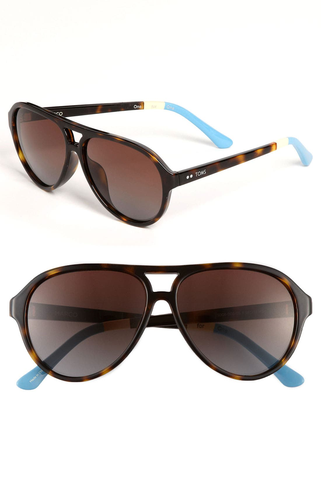 Main Image - TOMS 'Marco' 58mm Aviator Sunglasses