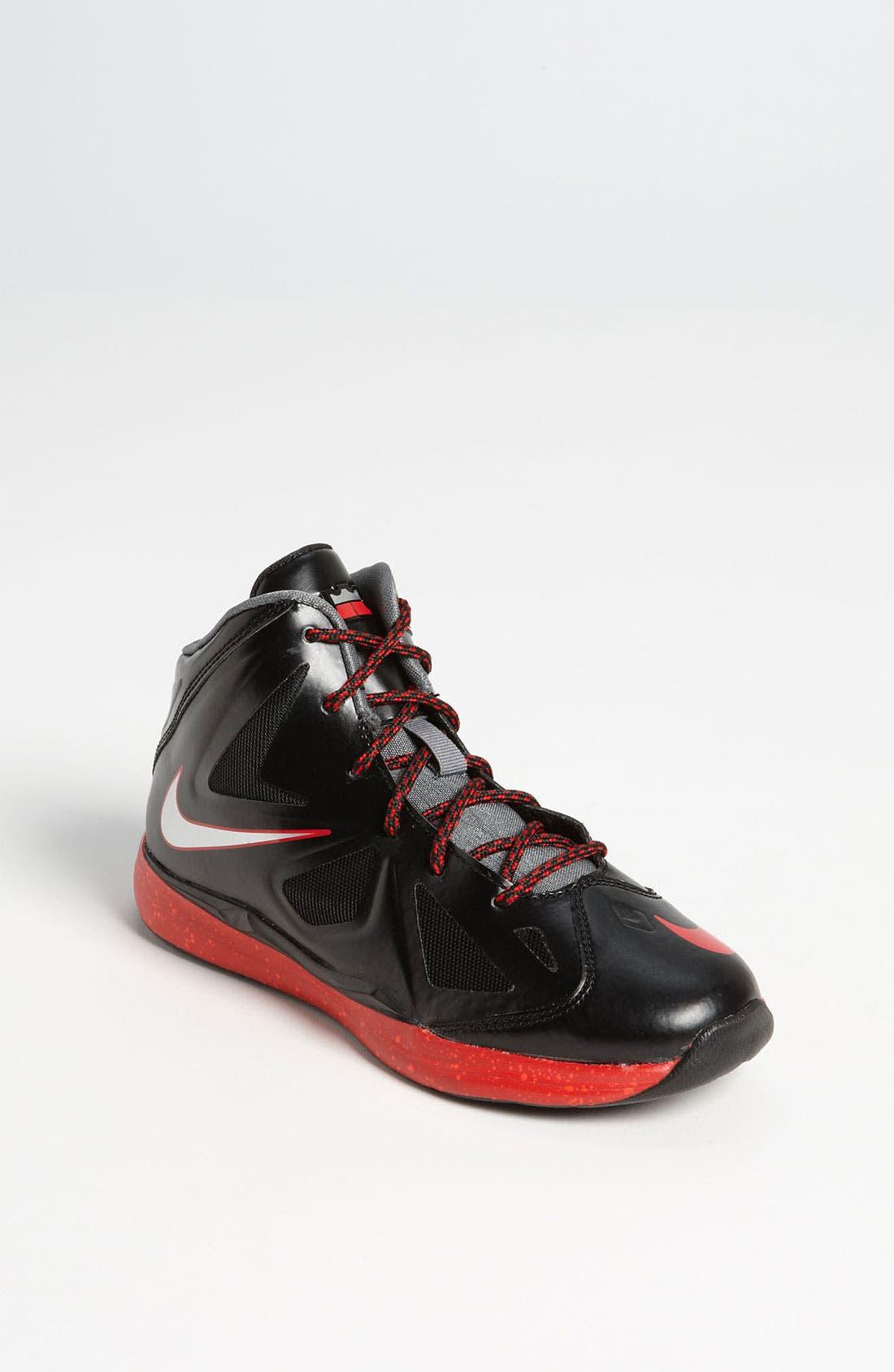 Alternate Image 1 Selected - Nike 'LeBron 10 Pressure' Basketball Shoe (Toddler & Little Kid)