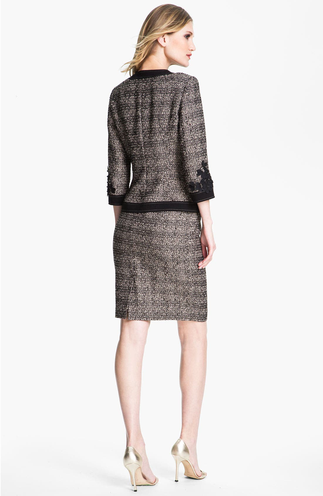 Alternate Image 4  - St. John Collection Graphic Tweed Pencil Skirt