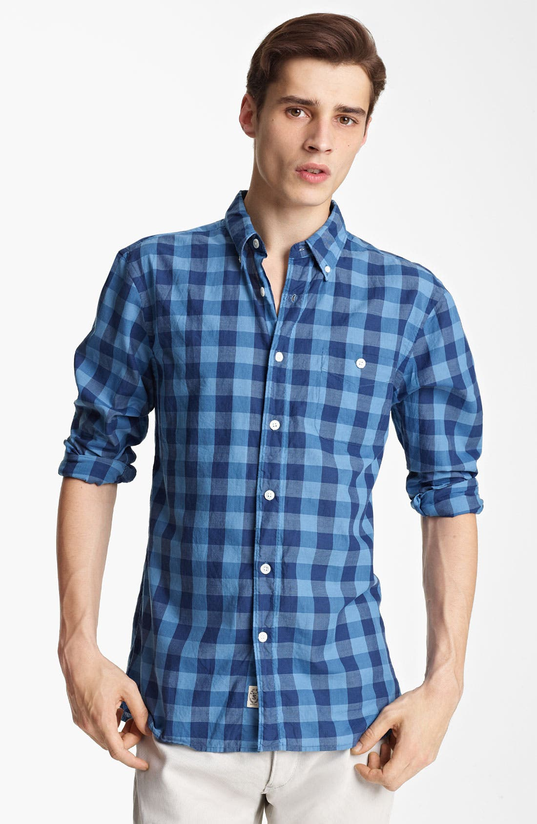 Alternate Image 1 Selected - Todd Snyder Check Woven Shirt