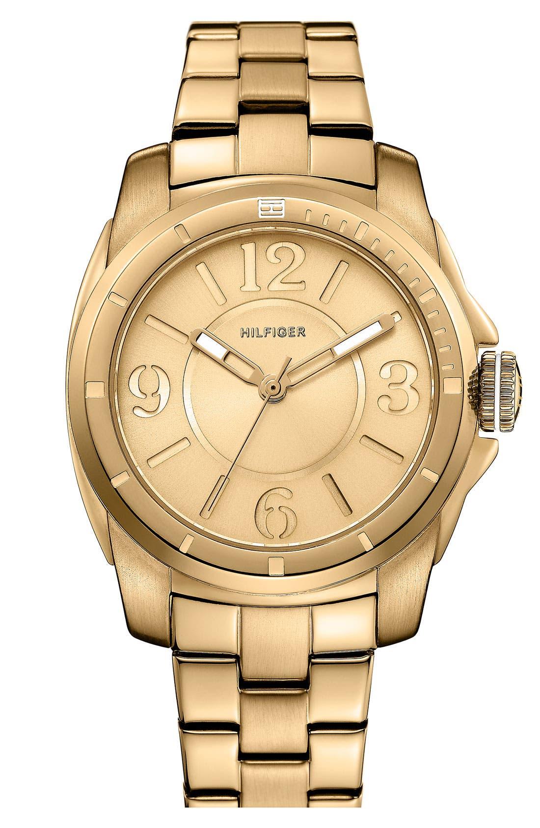 Alternate Image 1 Selected - Tommy Hilfiger Round Bracelet Watch, 38mm