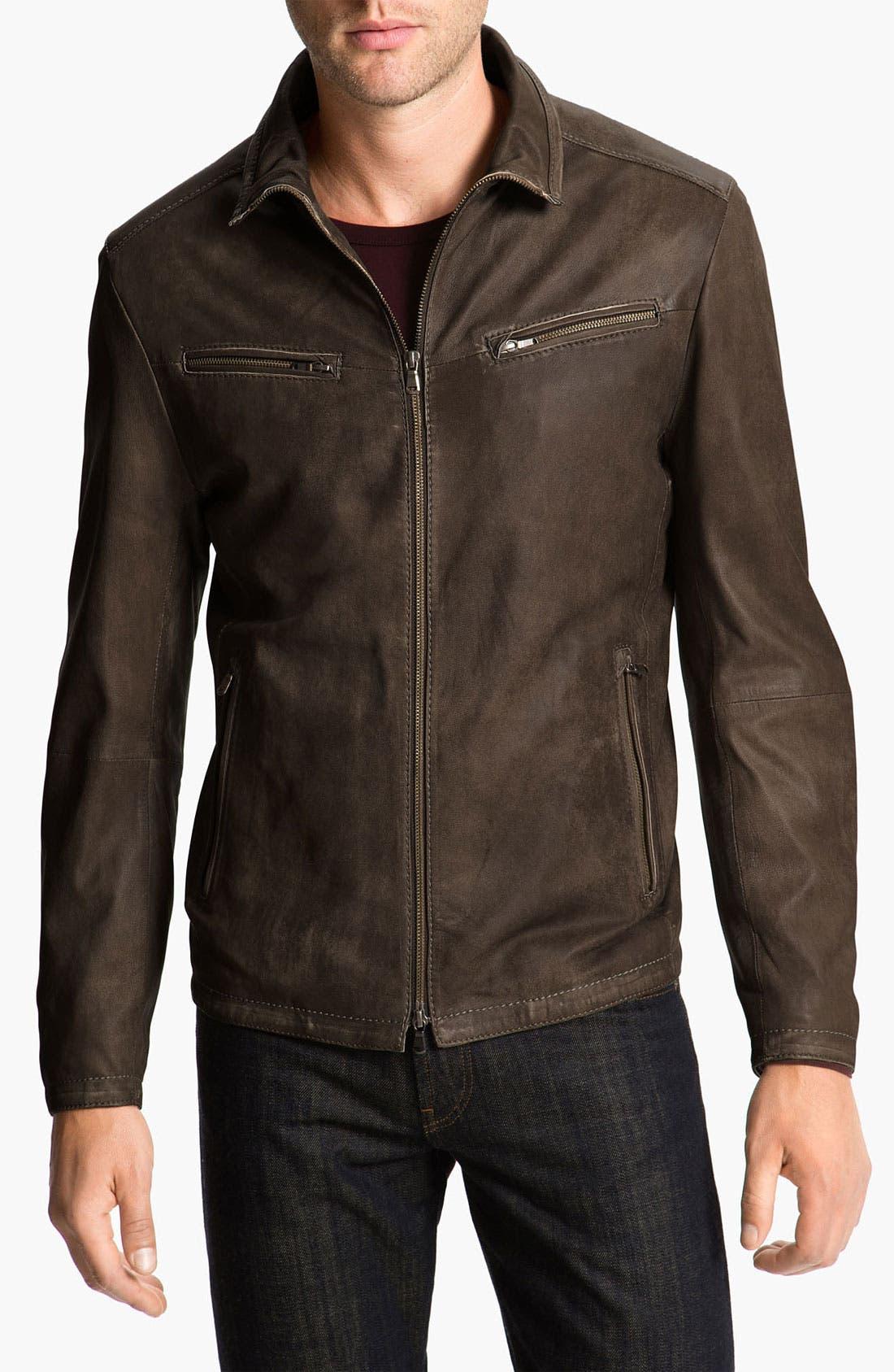 Main Image - Gimo Leather Jacket