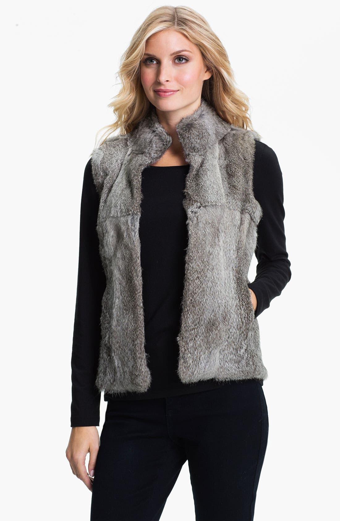 Main Image - MICHAEL Michael Kors Genuine Rabbit Fur Vest