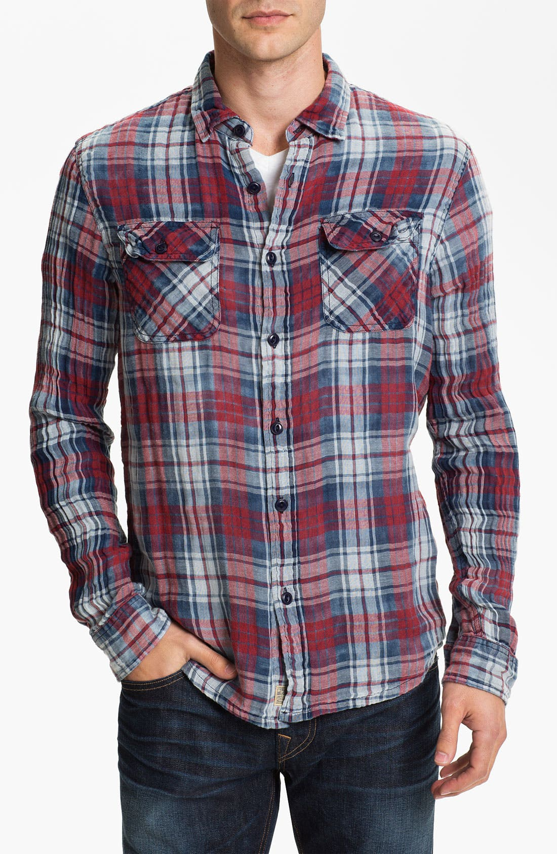Alternate Image 1 Selected - True Religion Brand Jeans Plaid Flannel Shirt