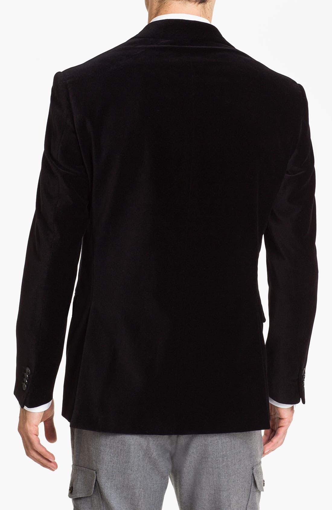 Alternate Image 2  - Michael Kors Trim Fit Velvet Blazer