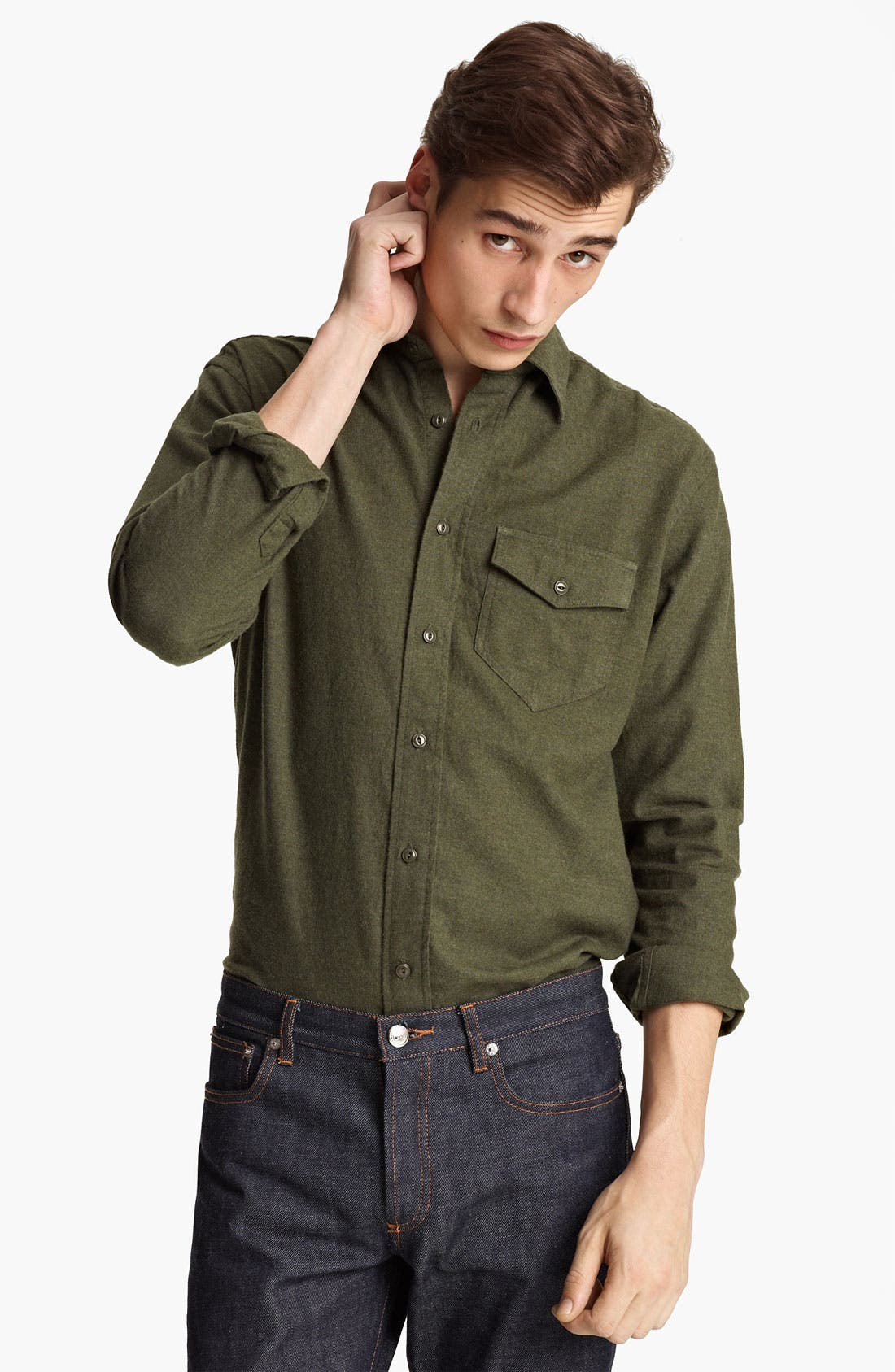 Main Image - Grayers Flannel Sport Shirt