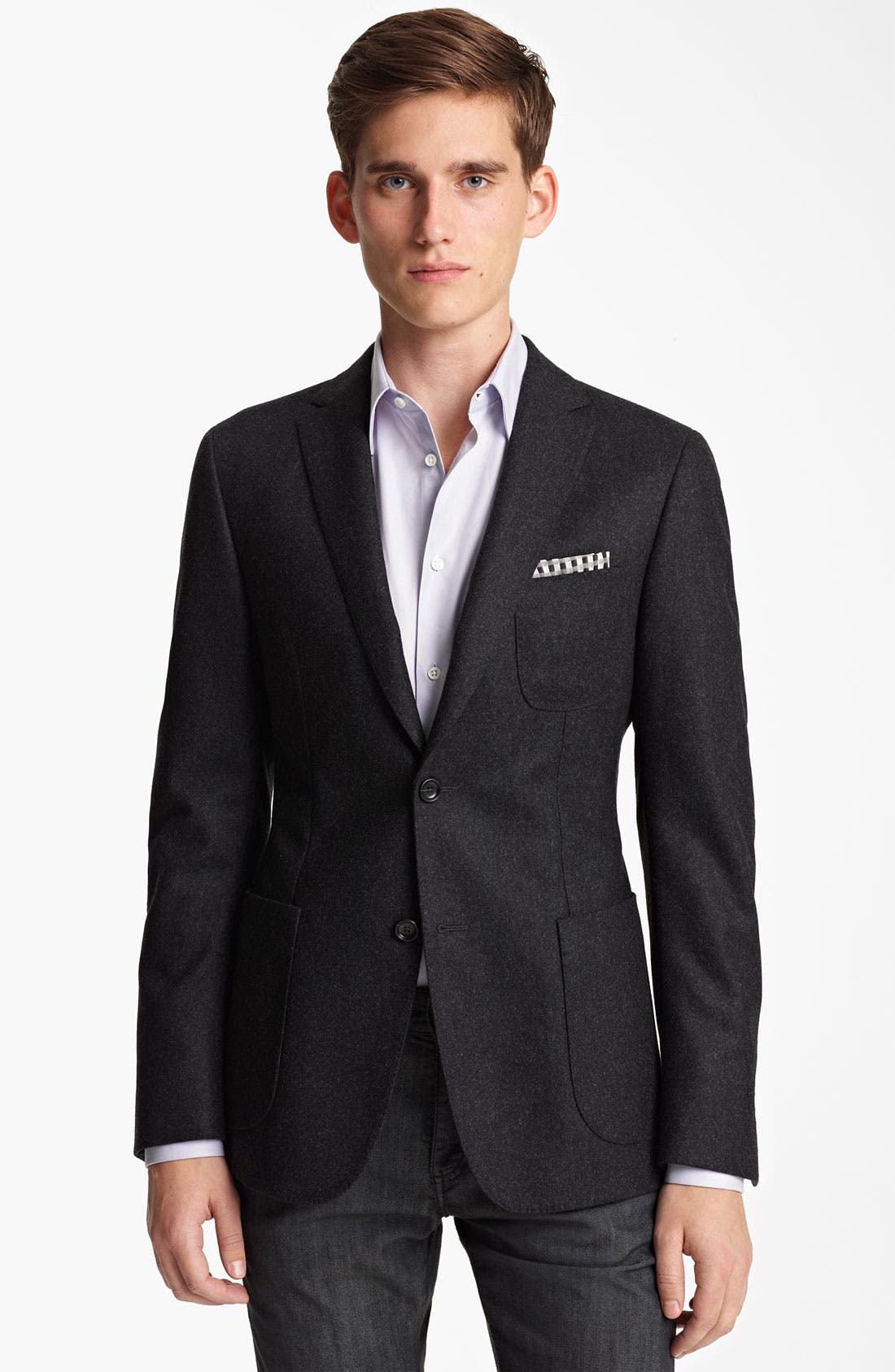 Alternate Image 1 Selected - Z Zegna 'Compact' Trim Fit Wool Blazer